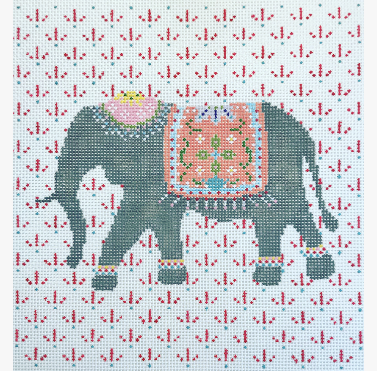 "Elephant CP-3C   8.5"" x 8.5"" on 13 mesh"