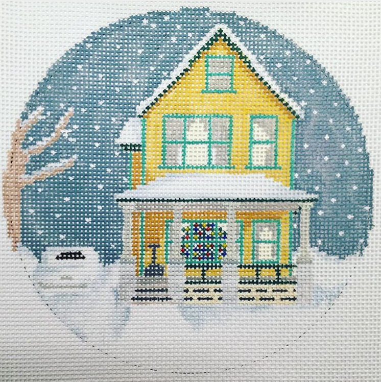 "A Christmas Story House 21O   5"" round on 18 mesh"