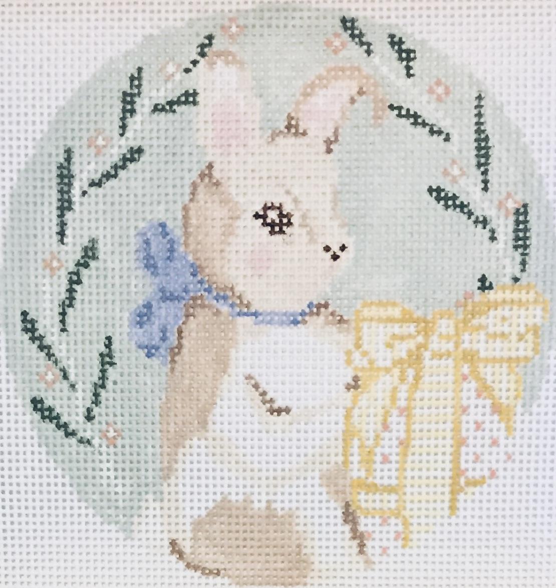 "Bunny 22D   4"" round on 18 mesh"
