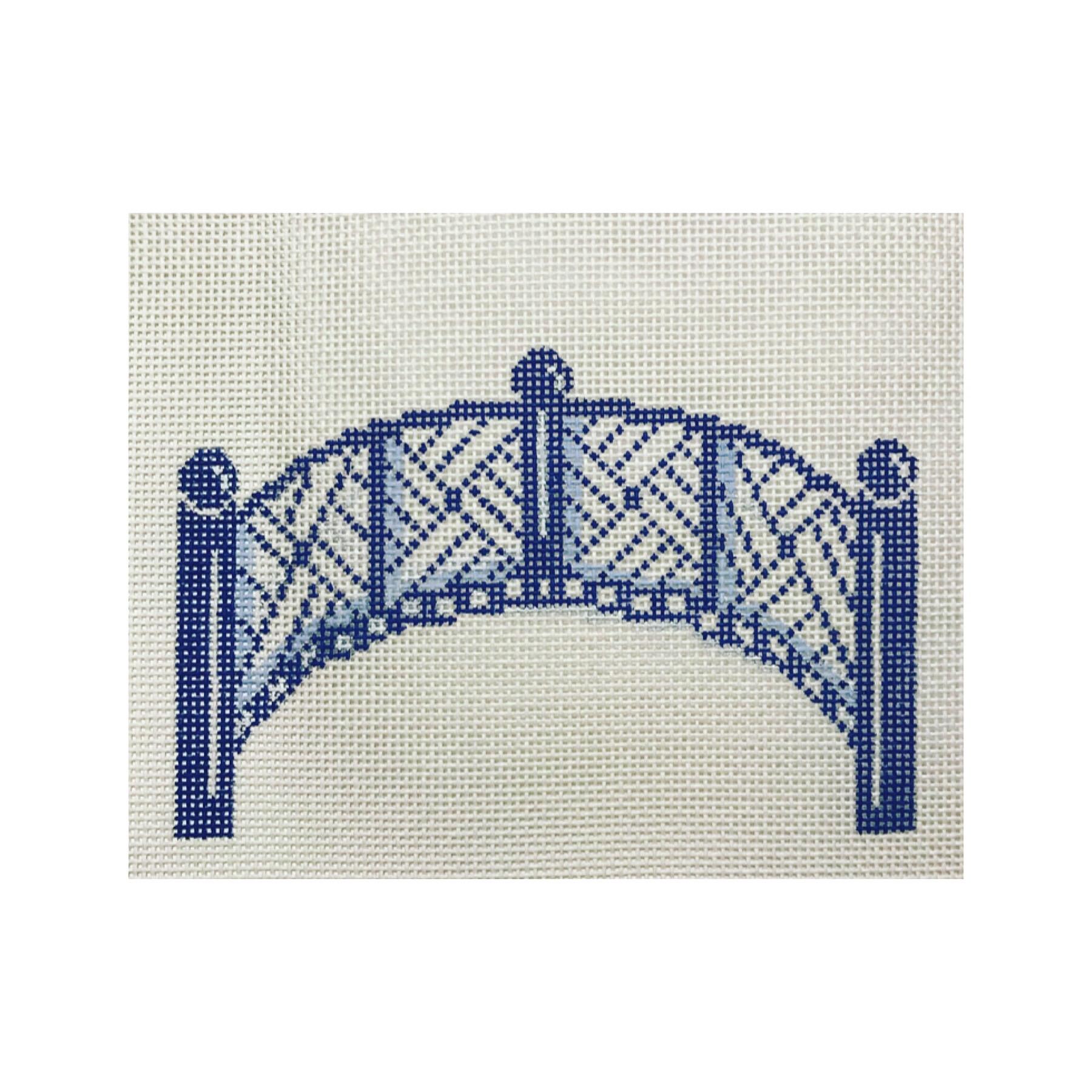 "Footbridge Ornament DM-1B  3"" x 5"" on 18 mesh"