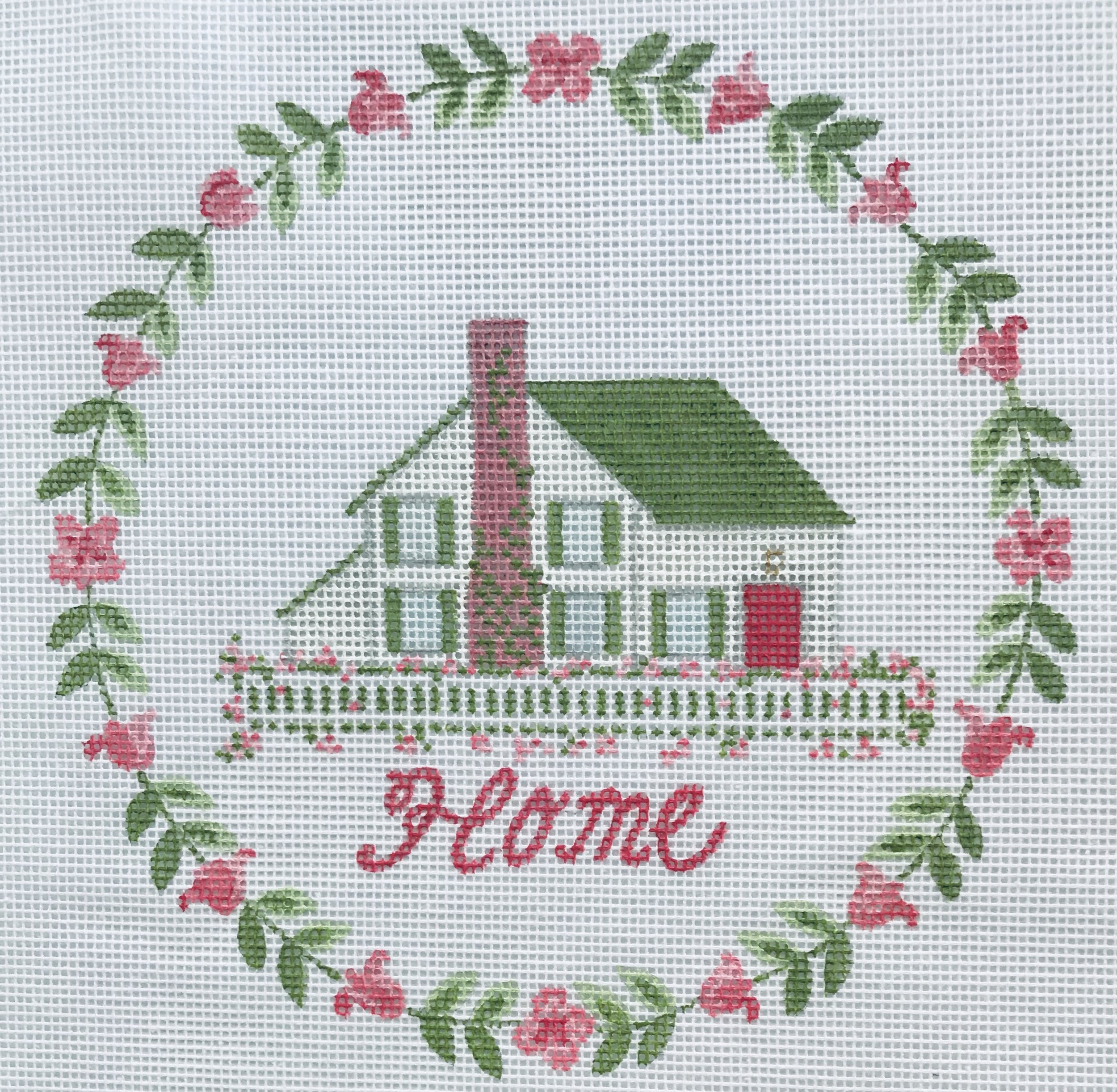 "Home - with ivy TSG16   8"" round on 14 mesh"