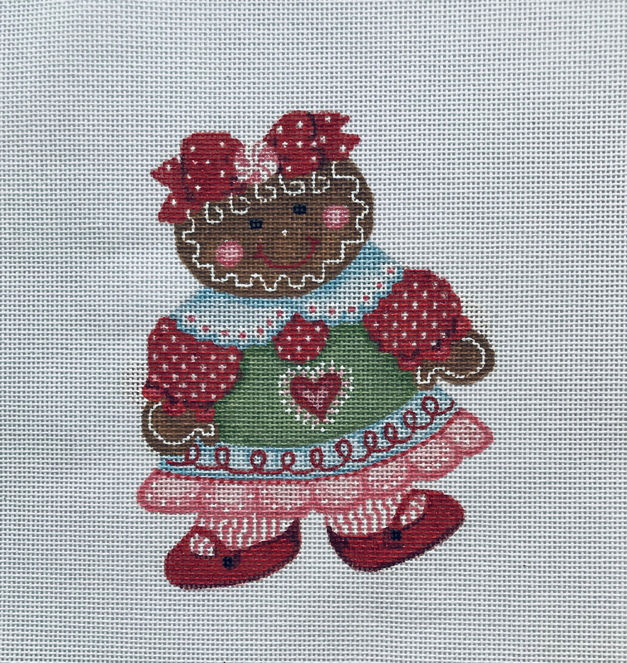 "The No-calorie Christmas Cookie - Ethyl TSG11   6"" x 6"" on 18 mesh"