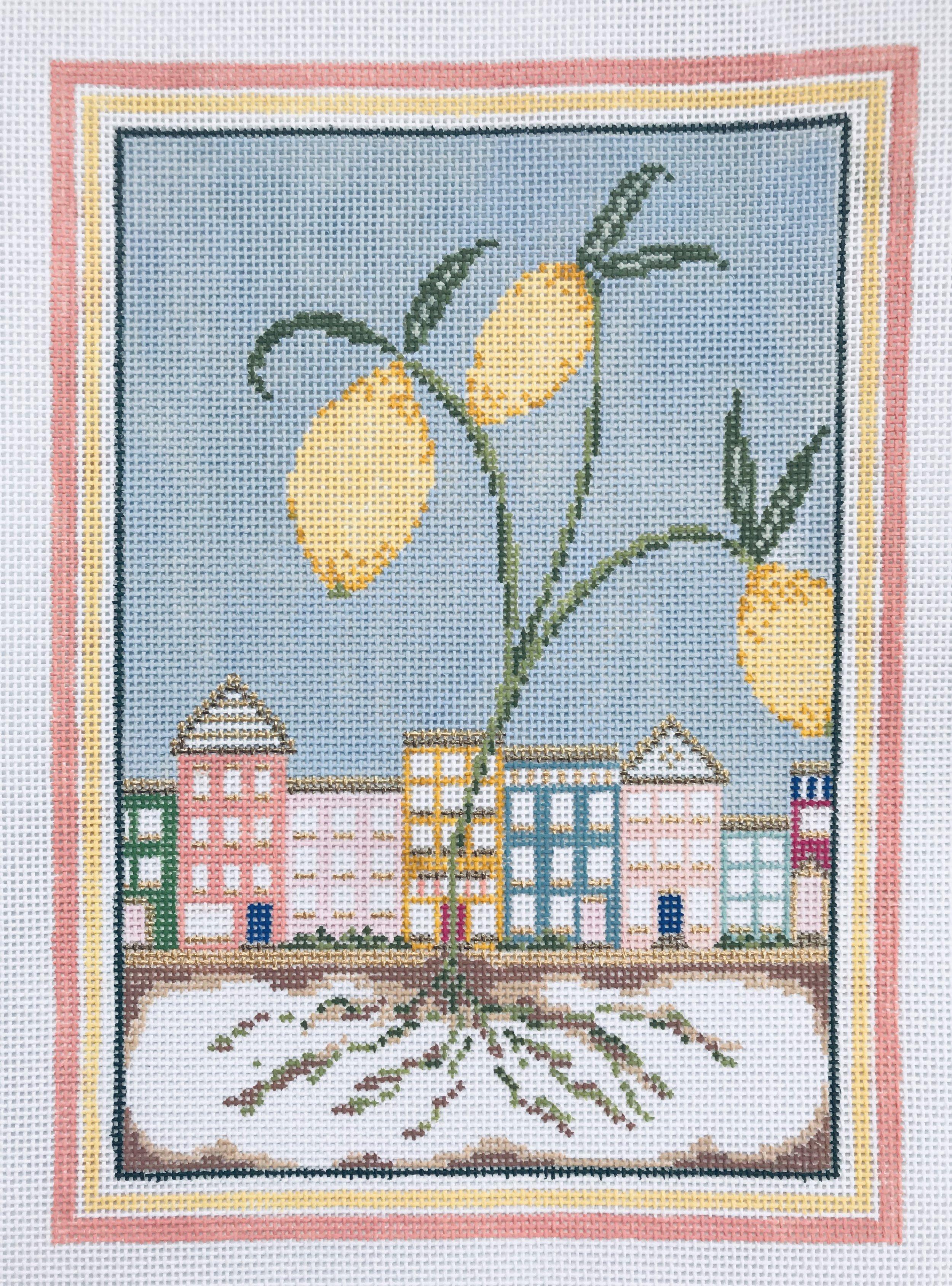 """Lemon Town 15AAA   11"""" x 8"""" on 13 mesh"""