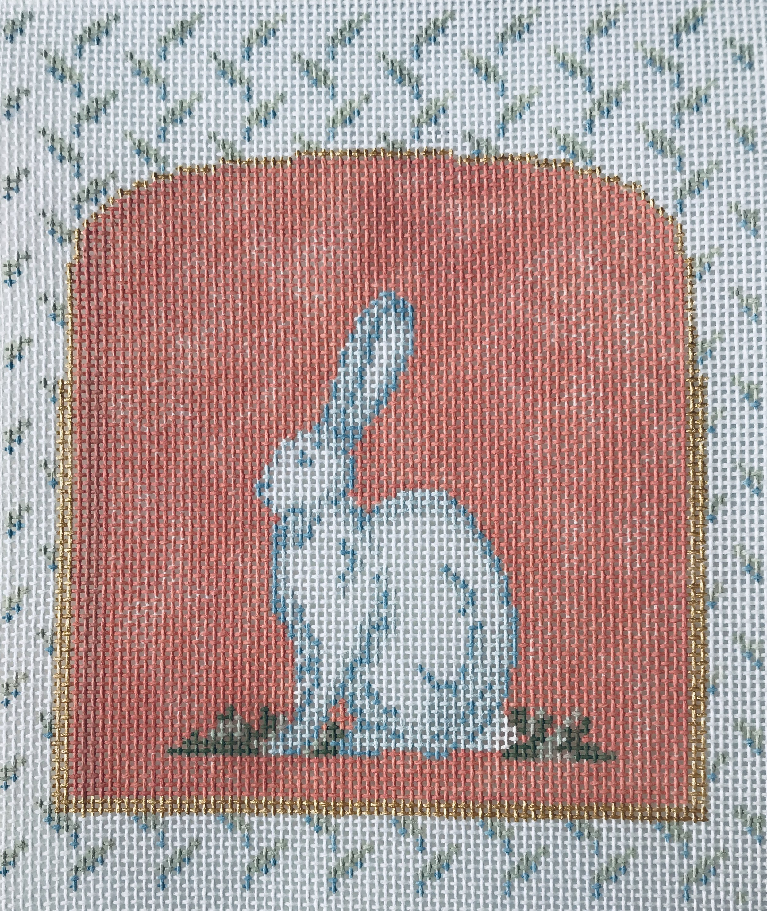 "Mother Nature Series - Hare 15BBB-4   5.5"" x 5"" on 18 mesh"