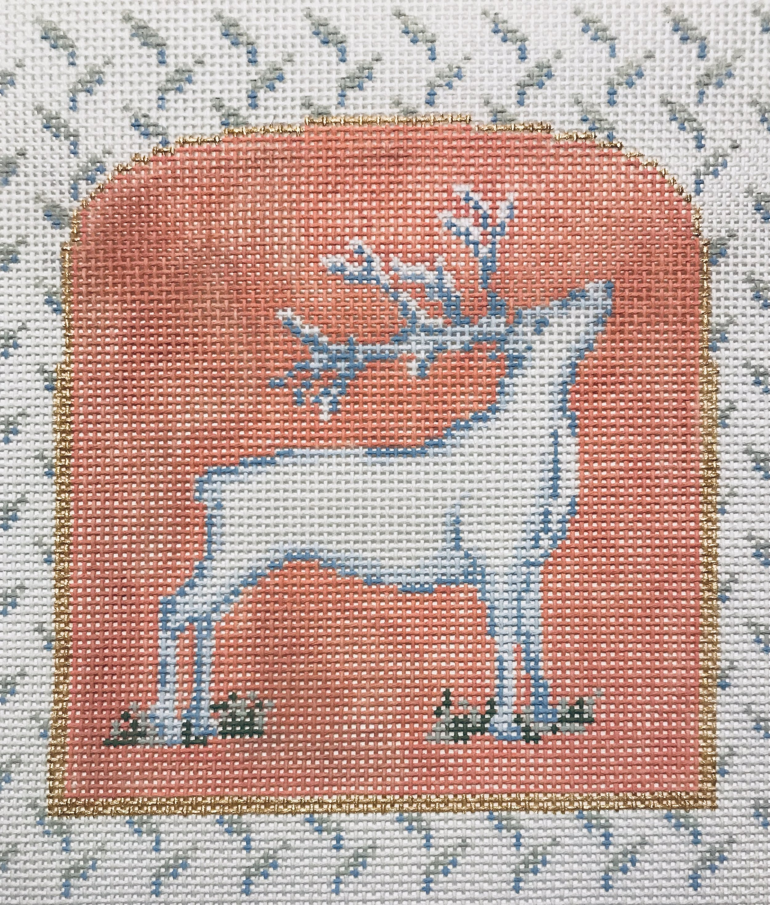 "Mother Nature Series - Deer 15BBB-3   5.5"" x 5"" on 18 mesh"