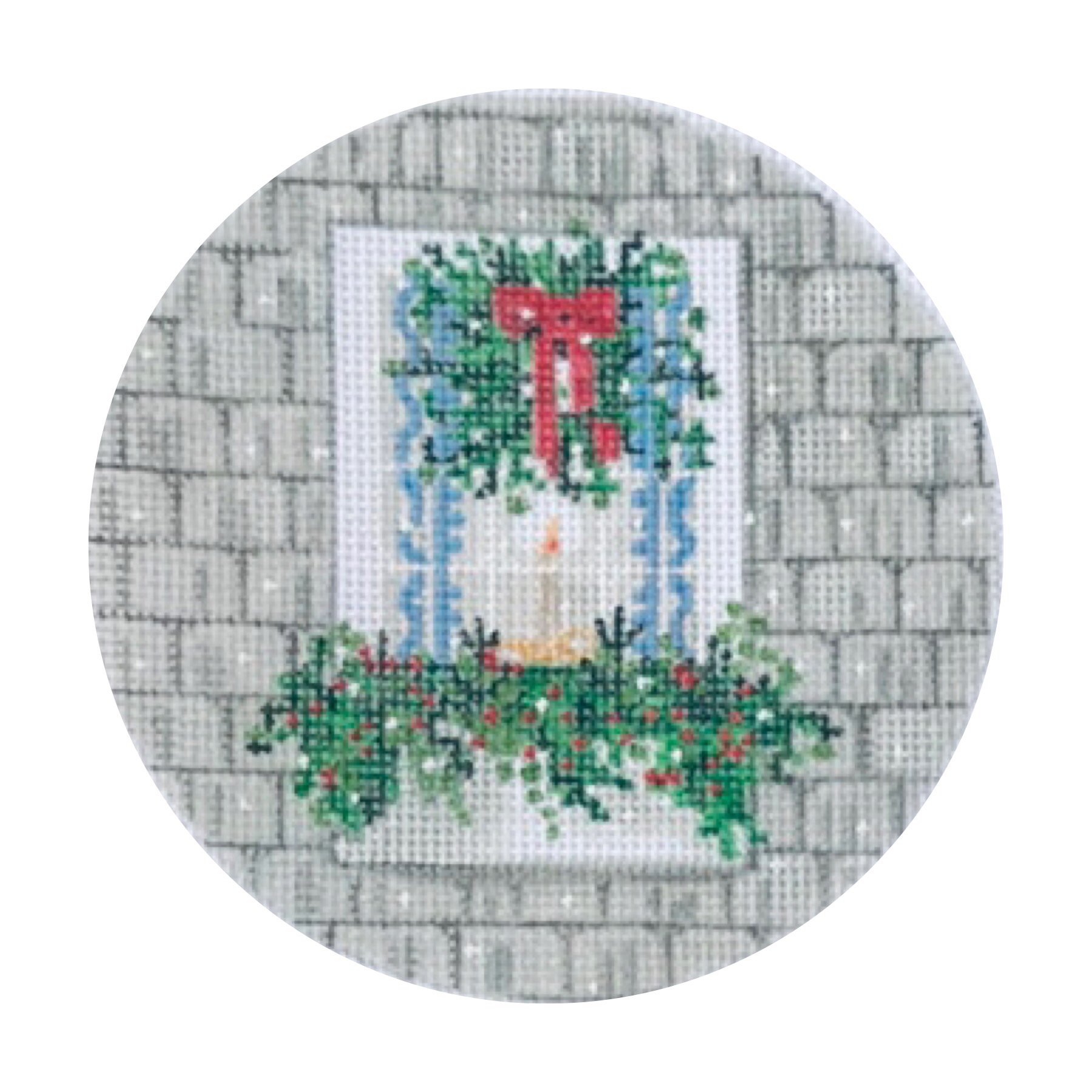 "Festive Window TSG25-B   4"" round on 18 mesh"