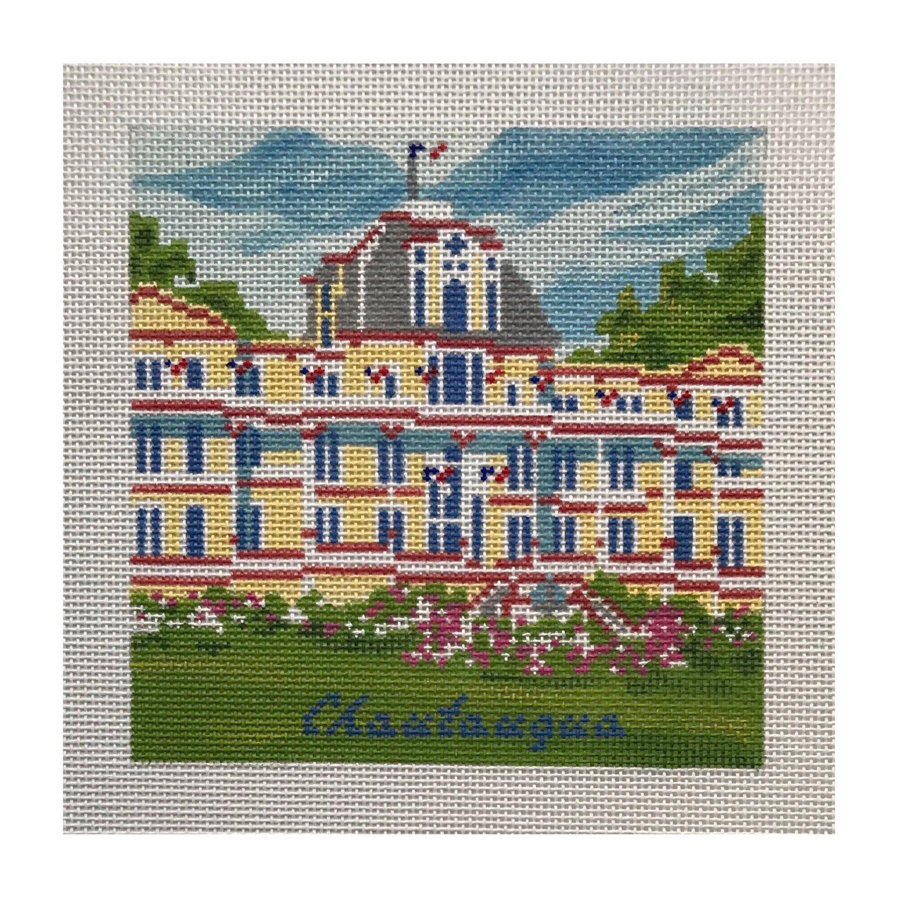 "The Athenaeum Hotel - Chautauqua AL68   5"" x 5"" on 18 mesh"