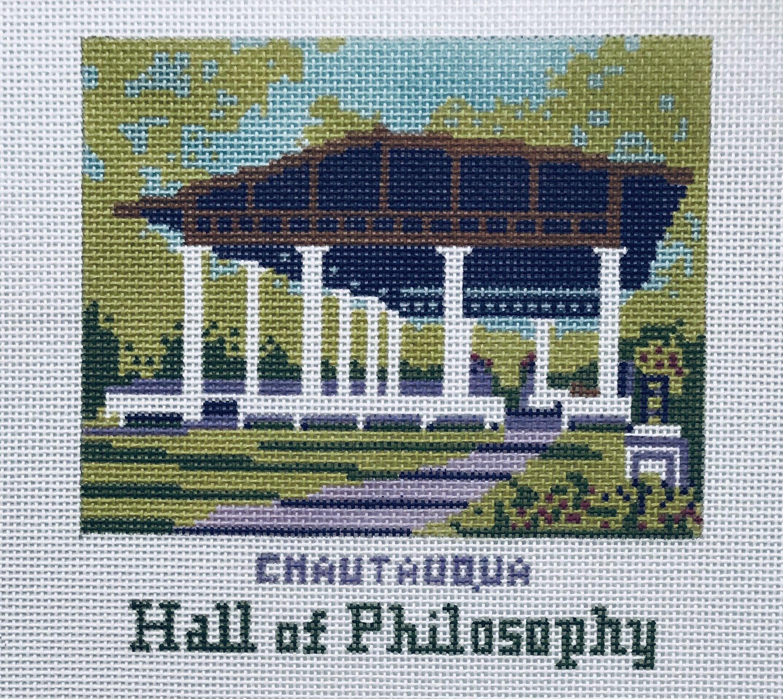 "Hall of Philosophy - Chautauqua AL52   4"" x 4"" on 18 mesh"