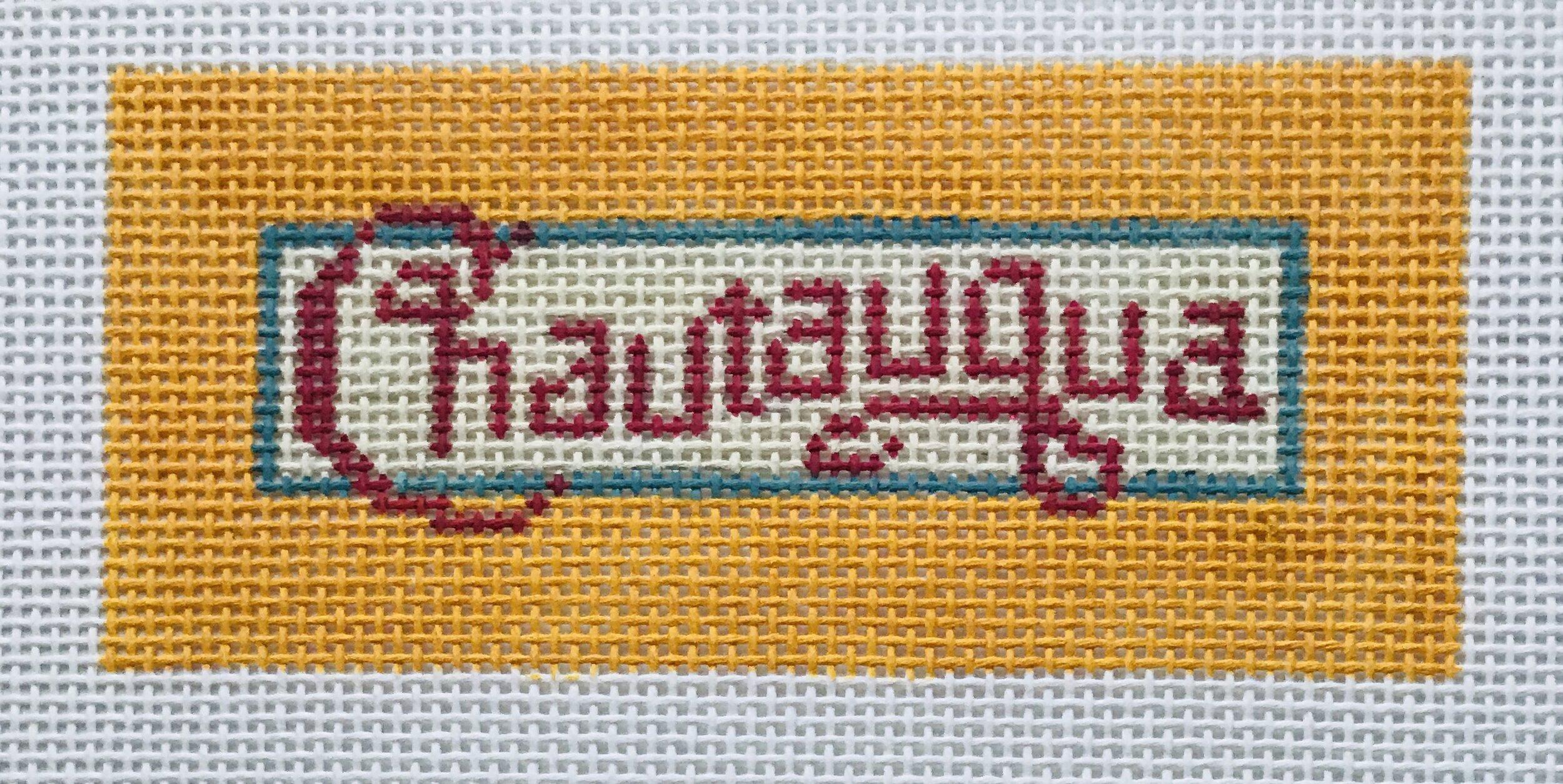 "Chautauqua - Small AL57   4.75"" x 2.25"" on 18 mesh"