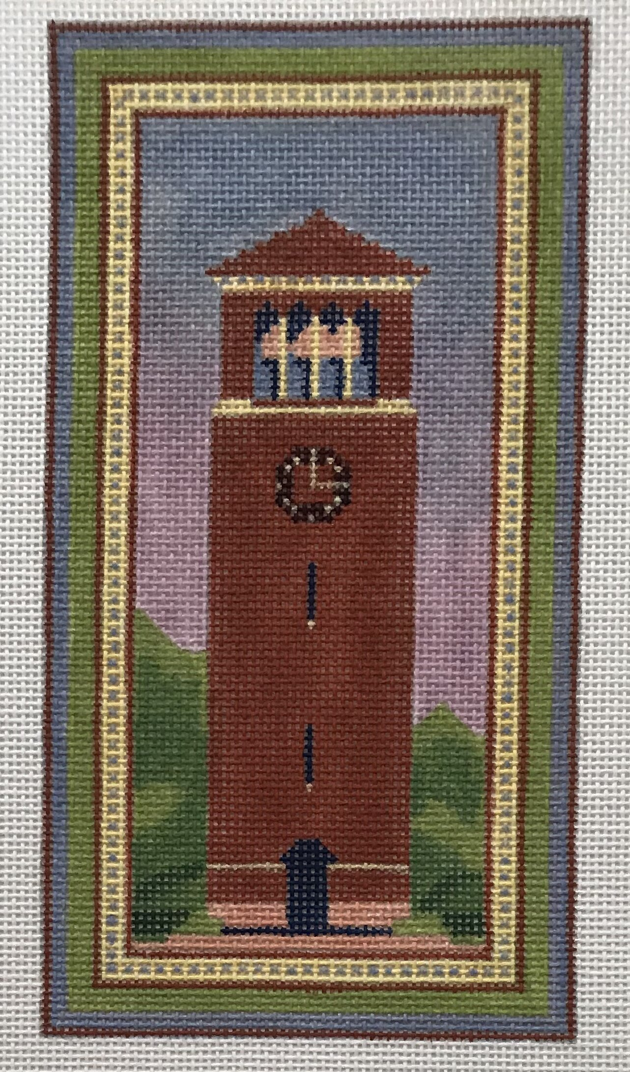 "Bell Tower - Chautauqua ALBT-1   3.5"" x 7"" on 18 mesh"