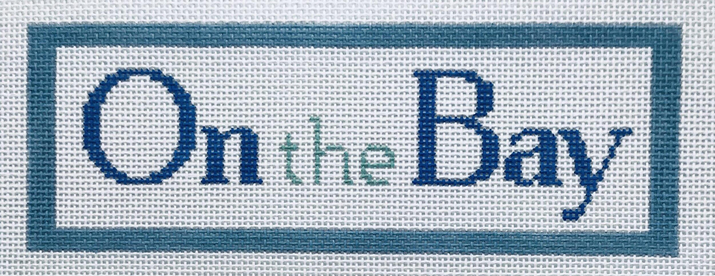 "On the Bay AL53   8"" x 2.75"" on 14 mesh"
