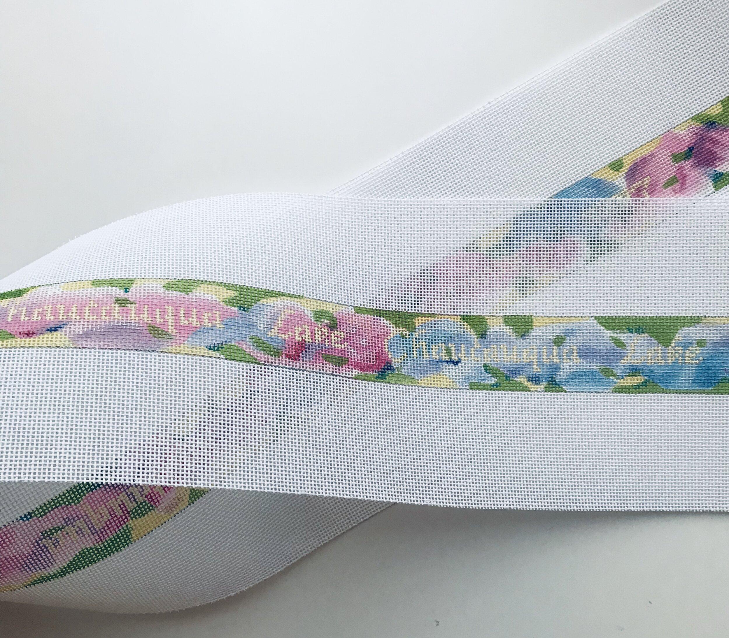 "Chautauqua Lake Floral Belt AL48   1.25"" x 38"" on 18 mesh"