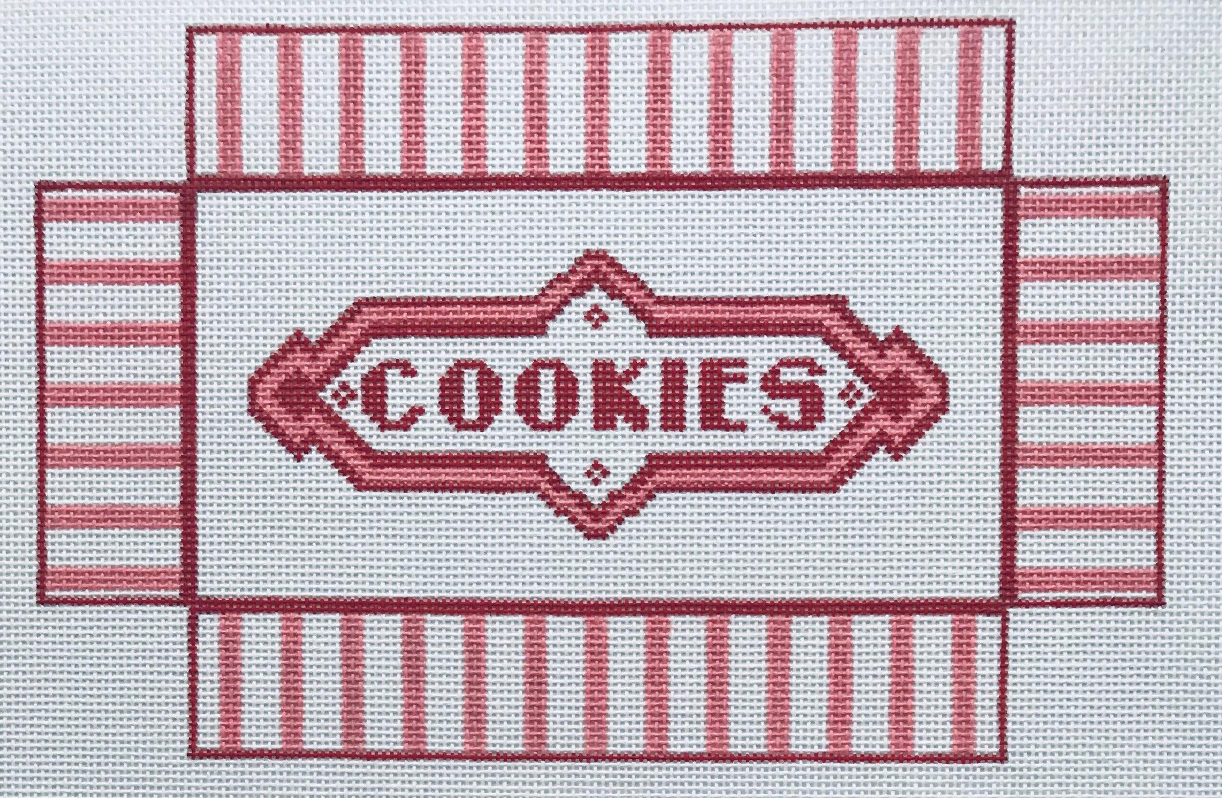 "Cookies Box WWB2   8.25"" x 5.5"" on 18 mesh"