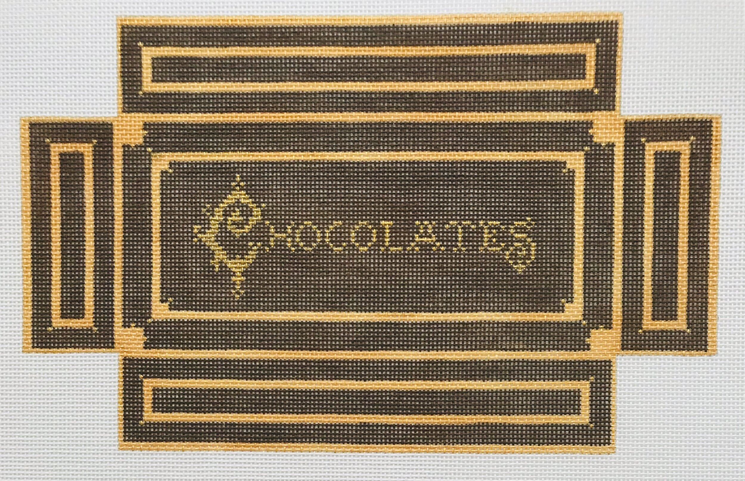 "Chocolate Box WWB2   8.25"" x 5.5"" on 18 mesh"