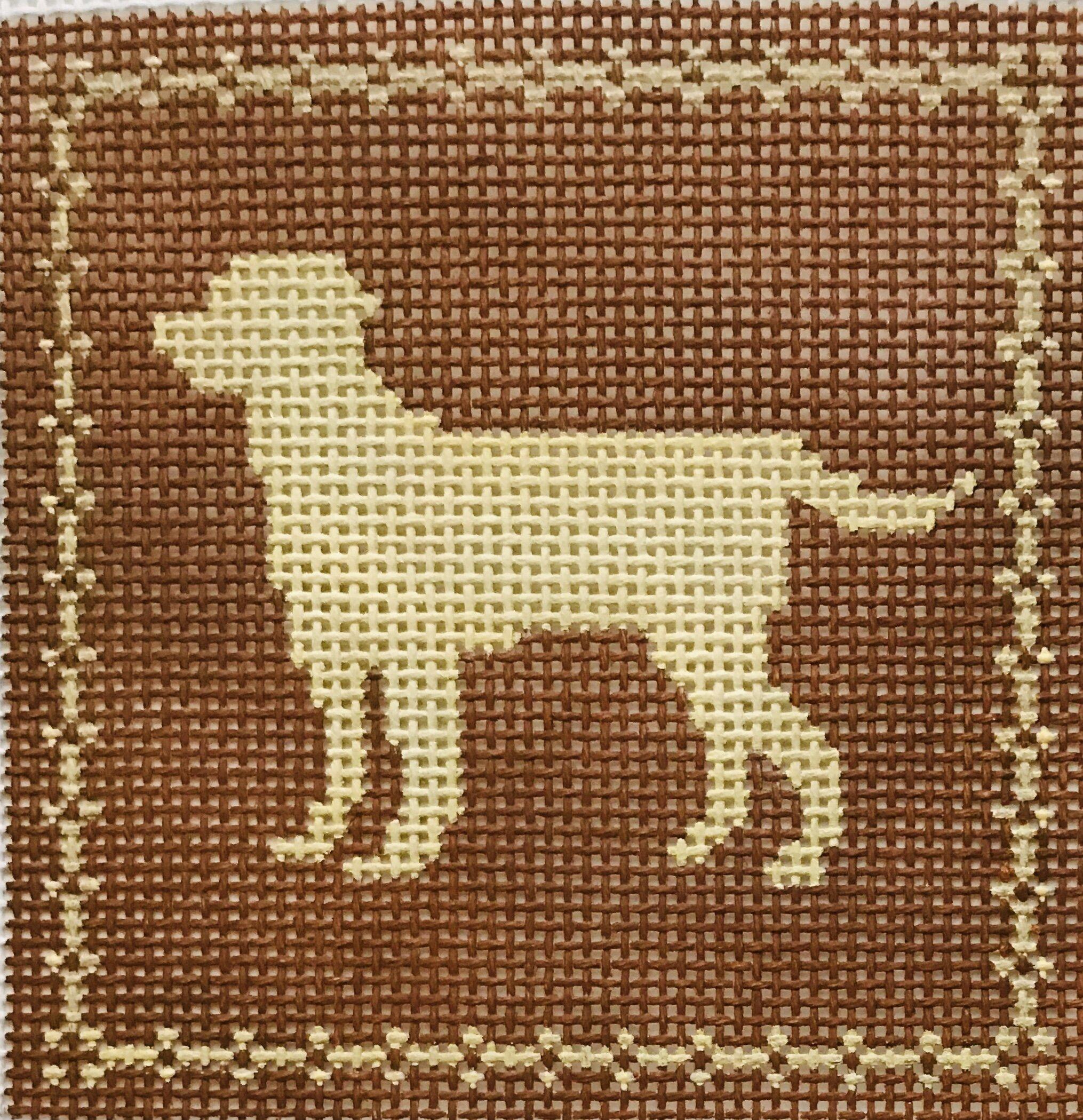 """Labrador AL101   4"""" x 4"""" on 14 mesh"""