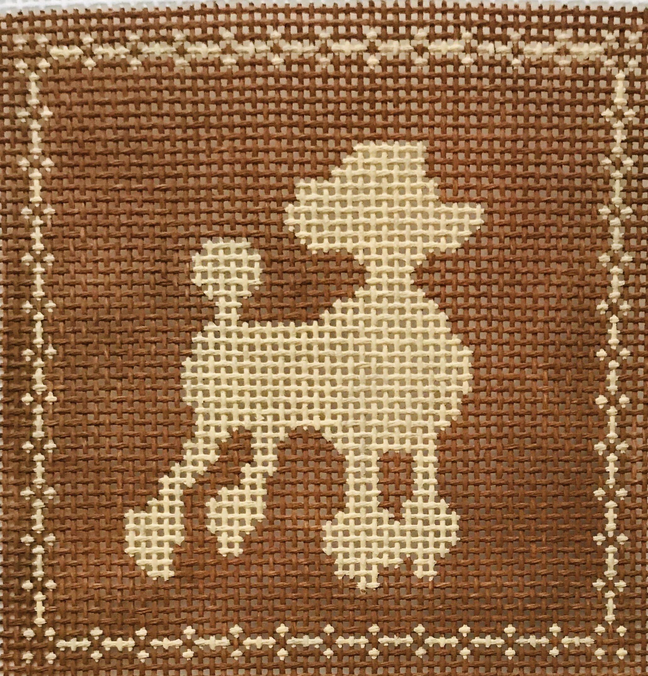 """Poodle AL106   4"""" x 4"""" on 14 mesh"""