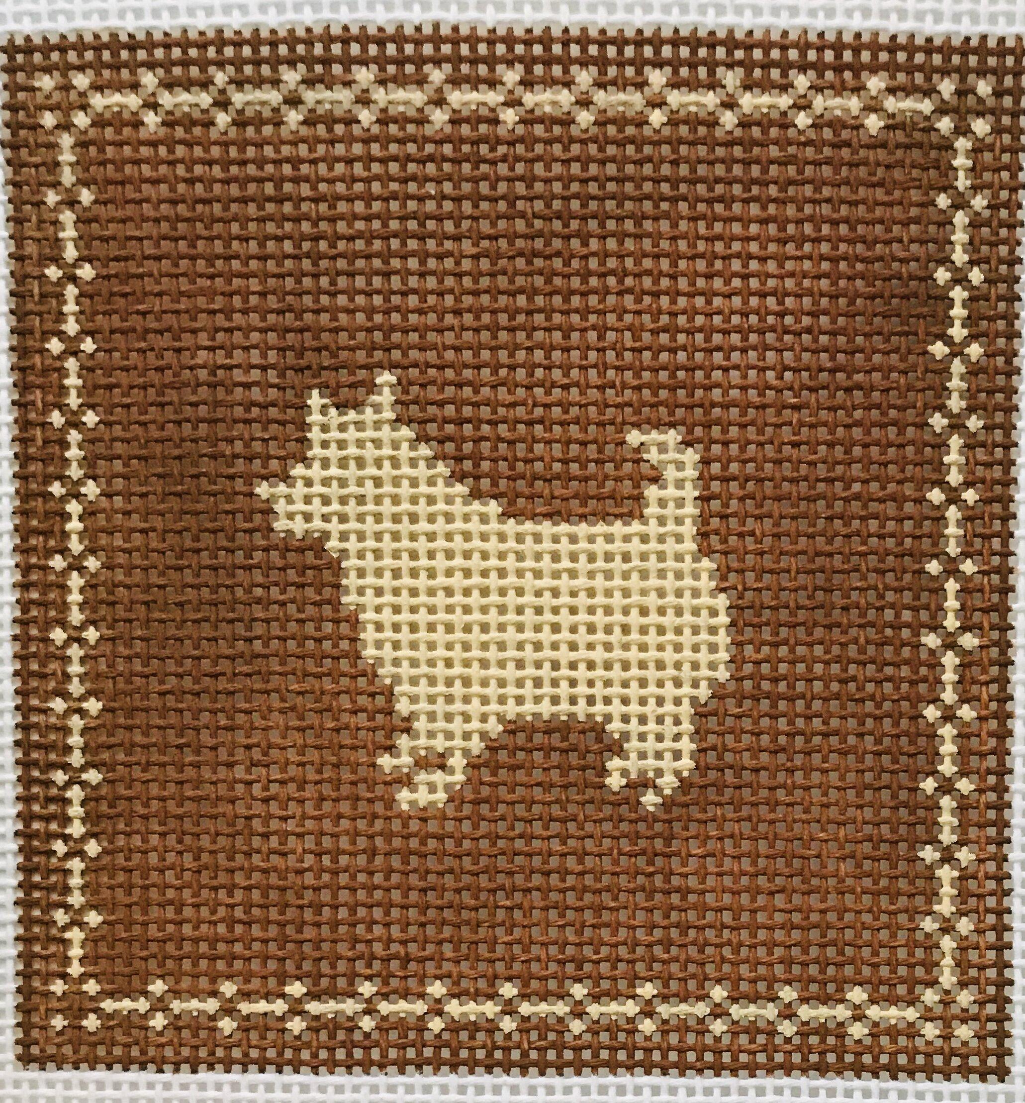 "Little Dog AL107   4"" x 4"" on 14 mesh"
