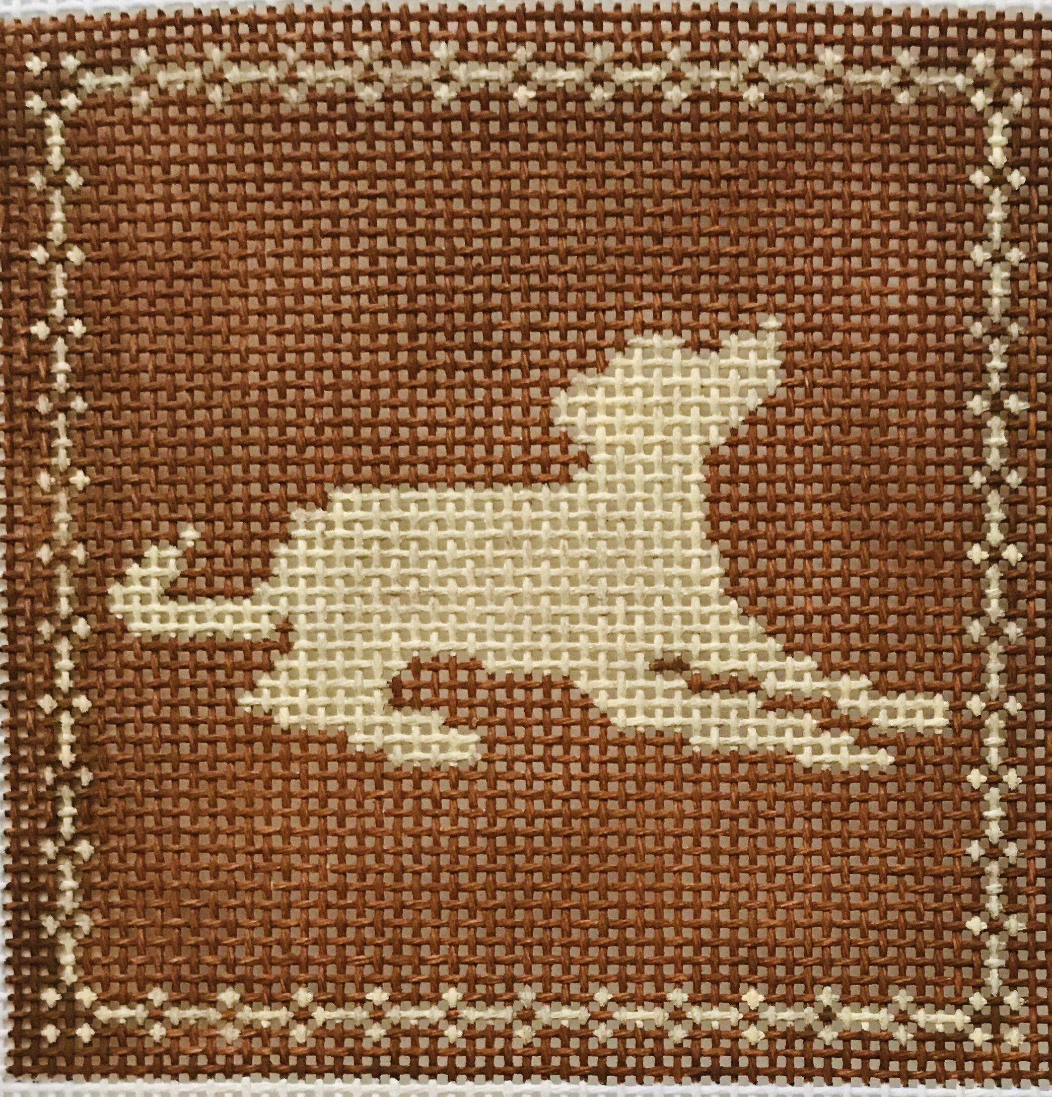 "Laying Labrador AL108   4"" x 4"" on 14 mesh"