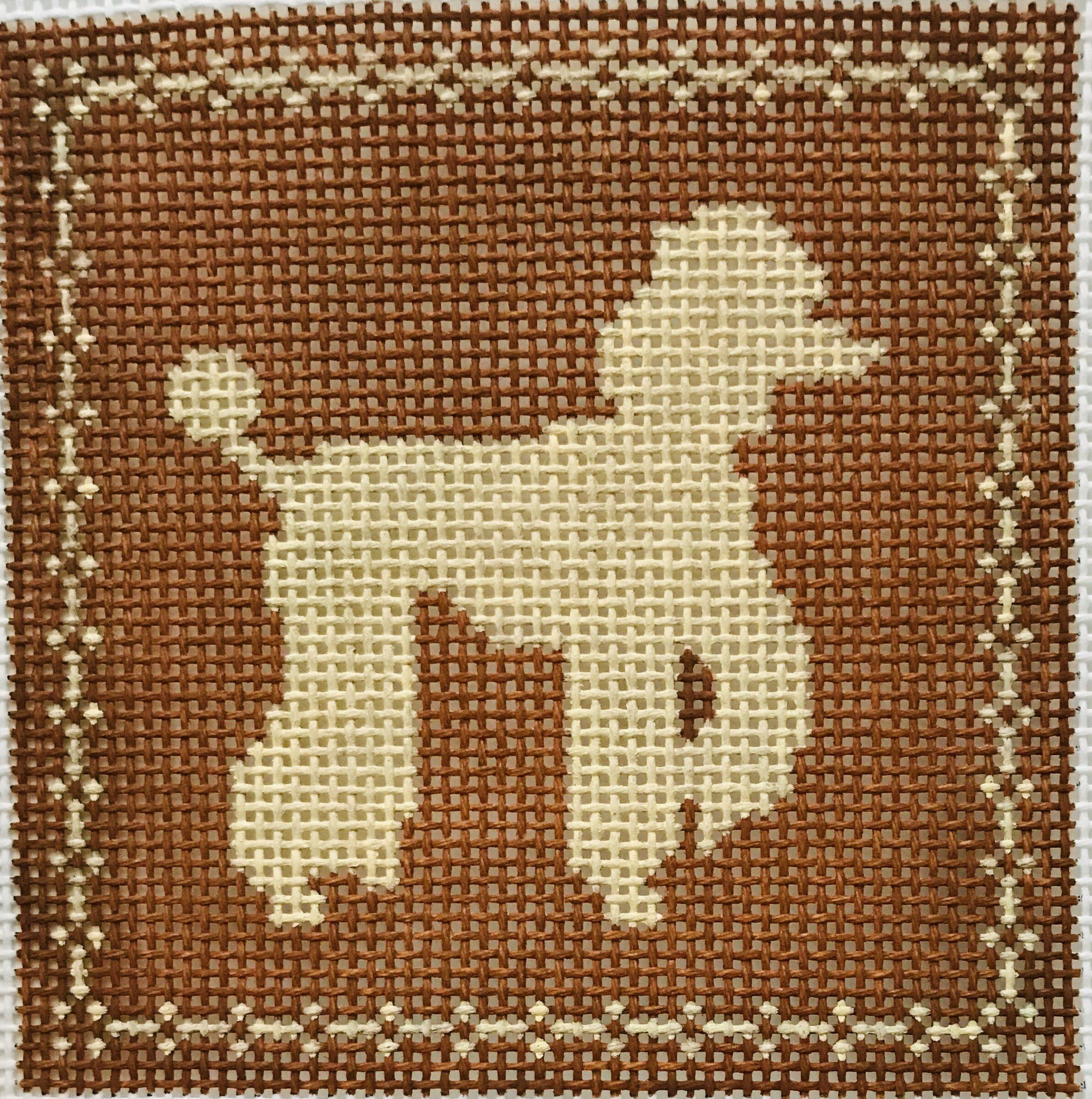 "Full Poodle AL109   4"" x 4"" on 14 mesh"