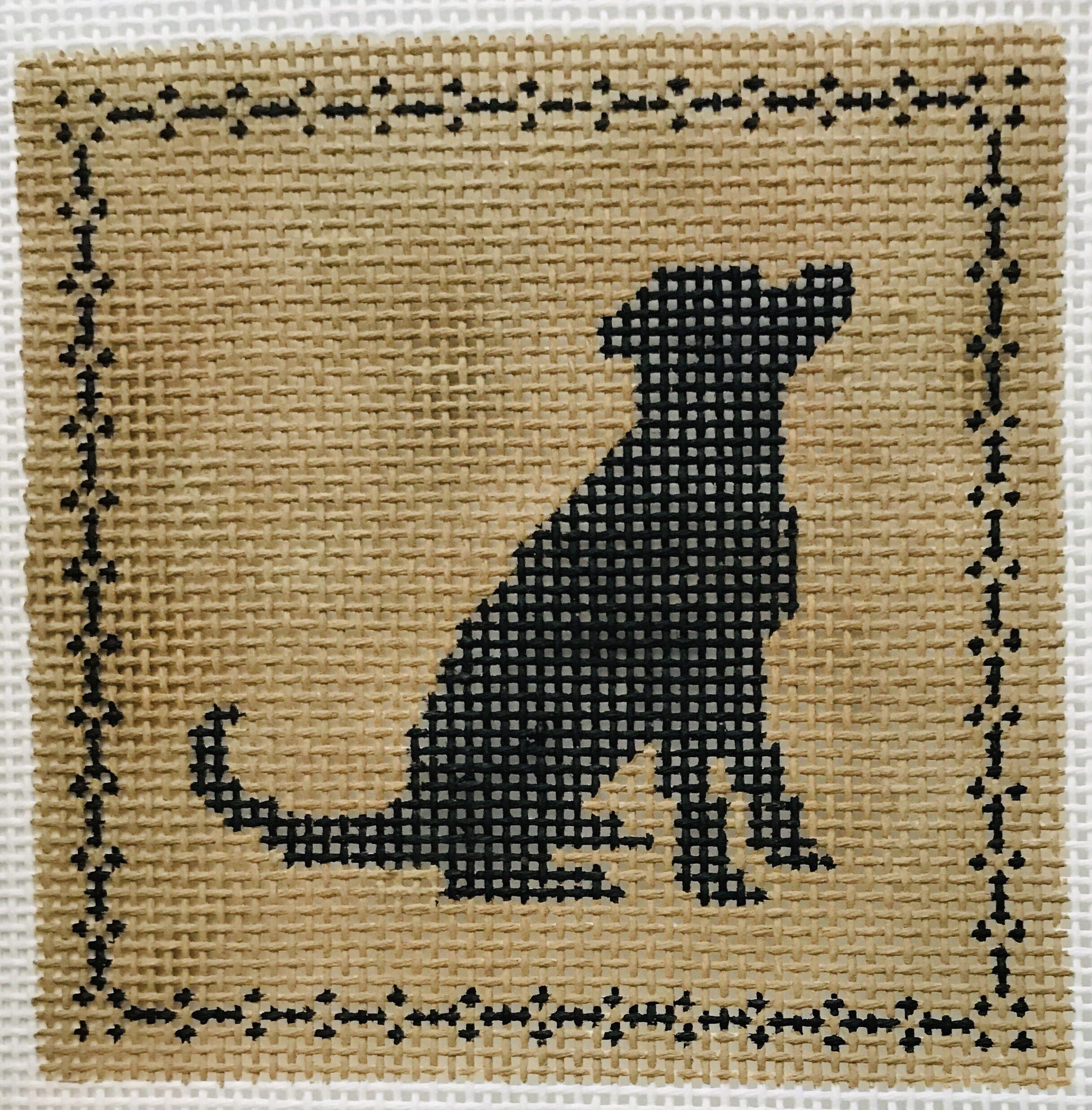 "Sitting Labrador AL120   4"" x 4"" on 14 mesh"