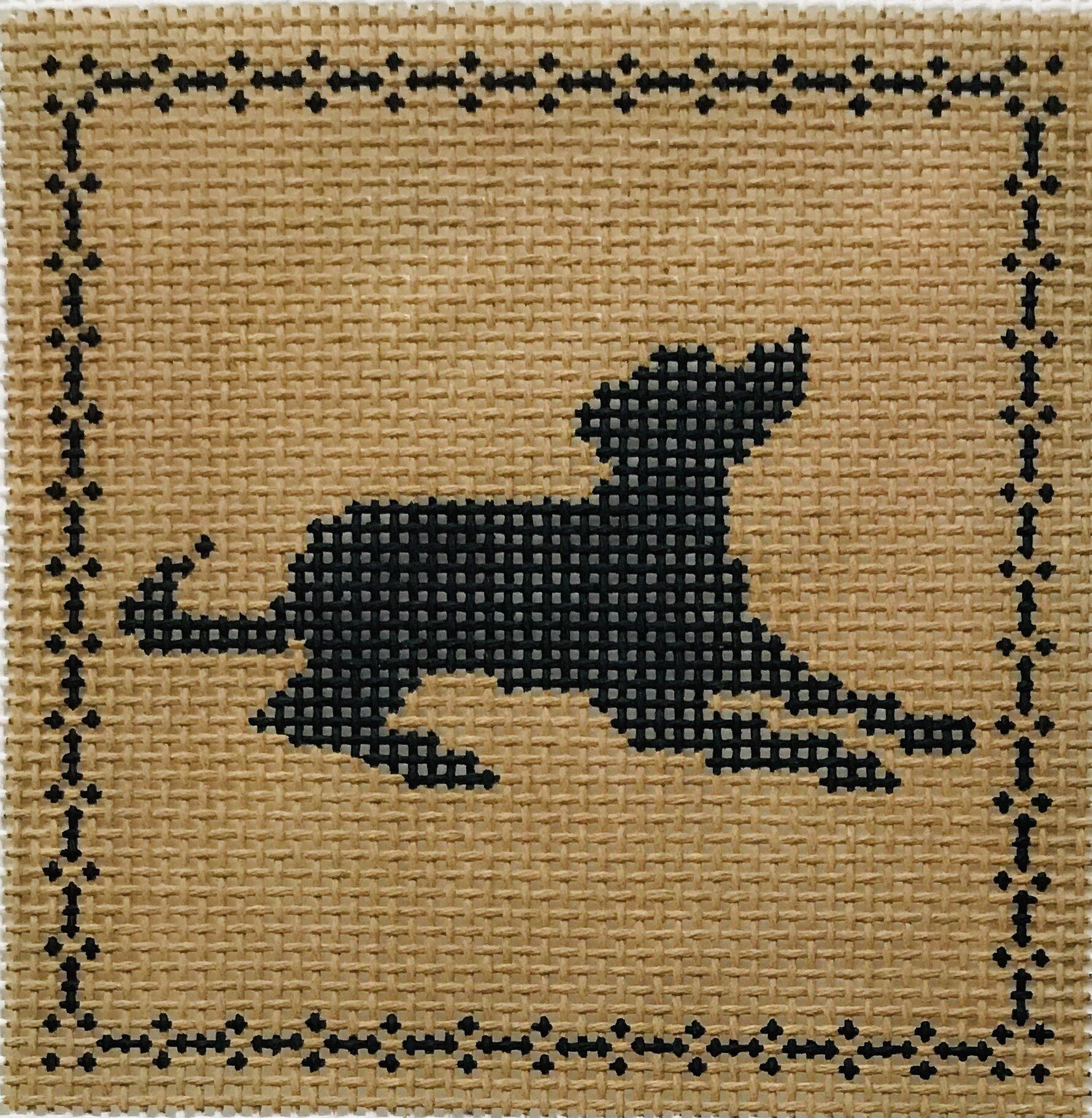 "Laying Labrador AL131   4"" x 4"" on 14 mesh"