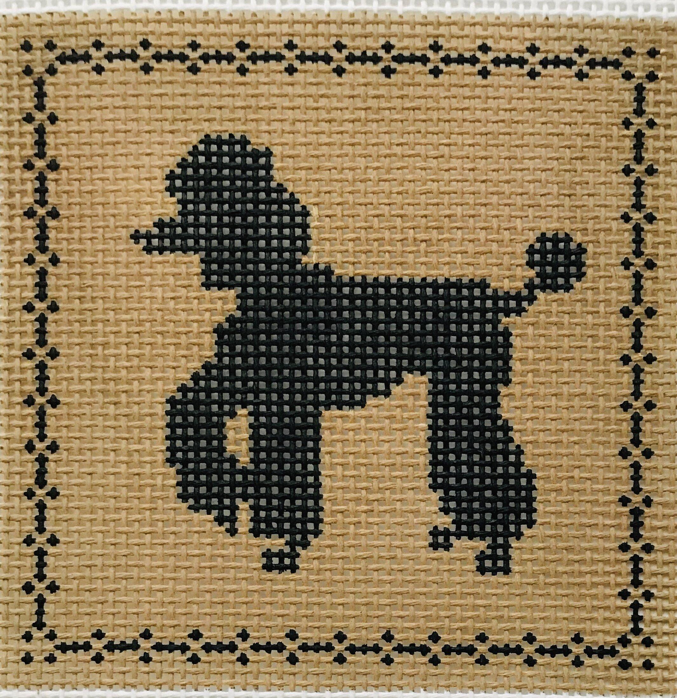 "Full Poodle AL132   4"" x 4"" on 14 mesh"