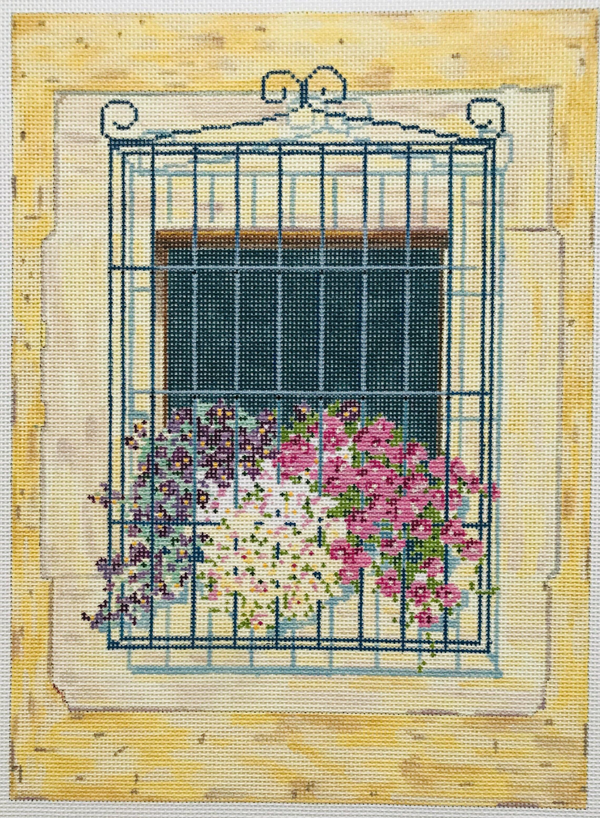 """Ceci's Window AL2   7.75"""" x 10.5"""" on 18 mesh"""