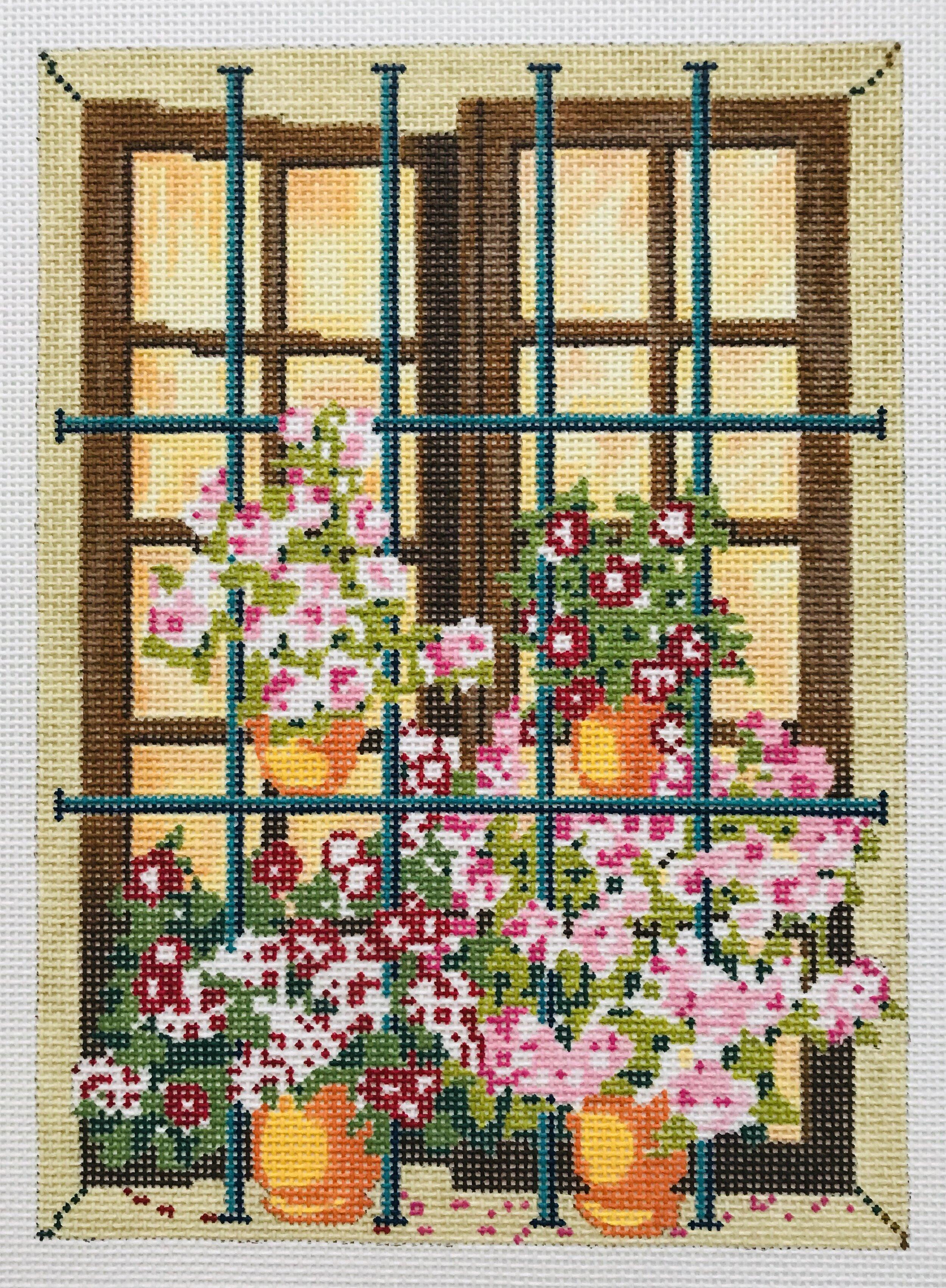 """Anne's Window AL3   5.75"""" x 7.75"""" on 18 mesh"""