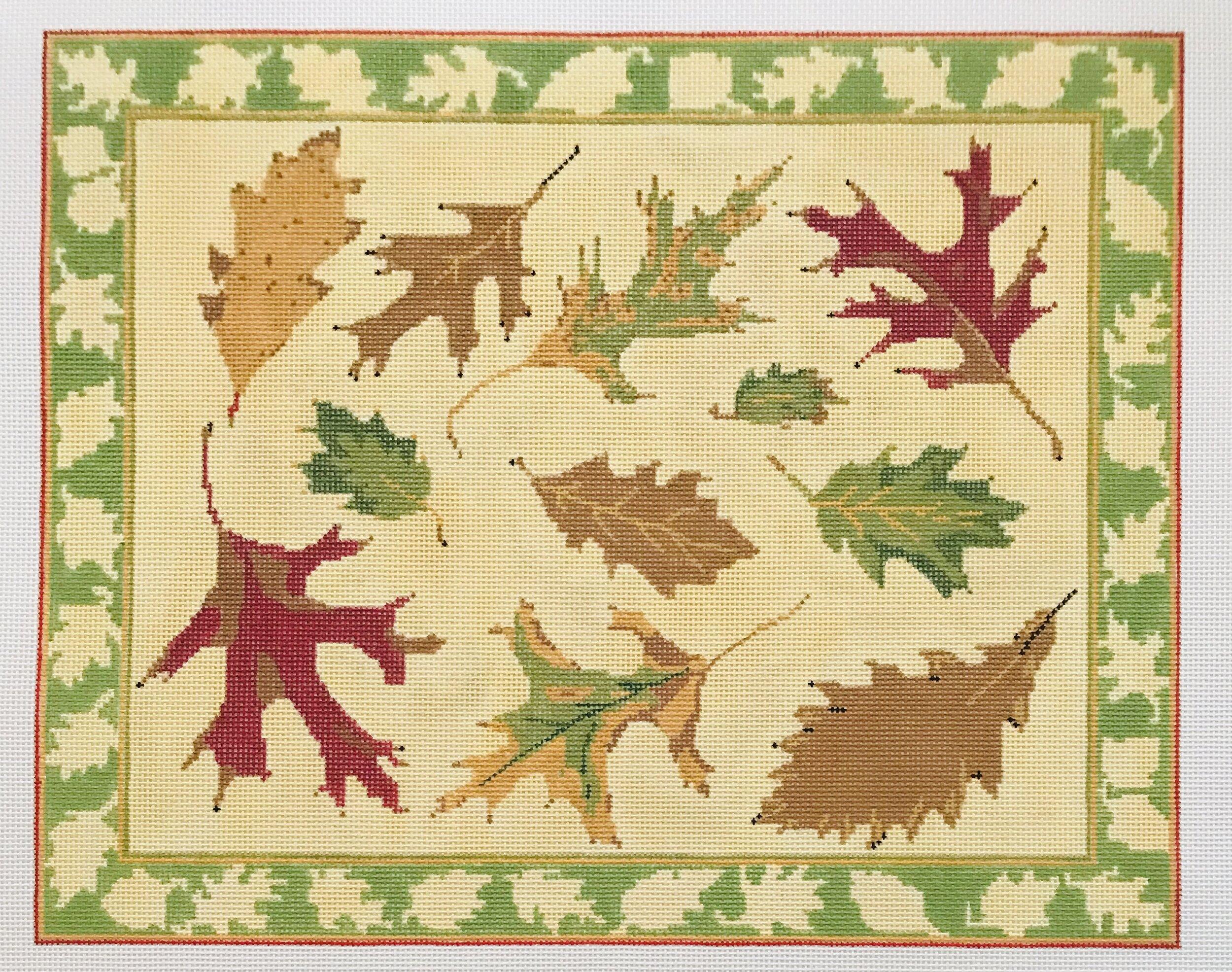 """Oak Leaves ALOL1   12.25"""" x 10"""" on 18 mesh"""