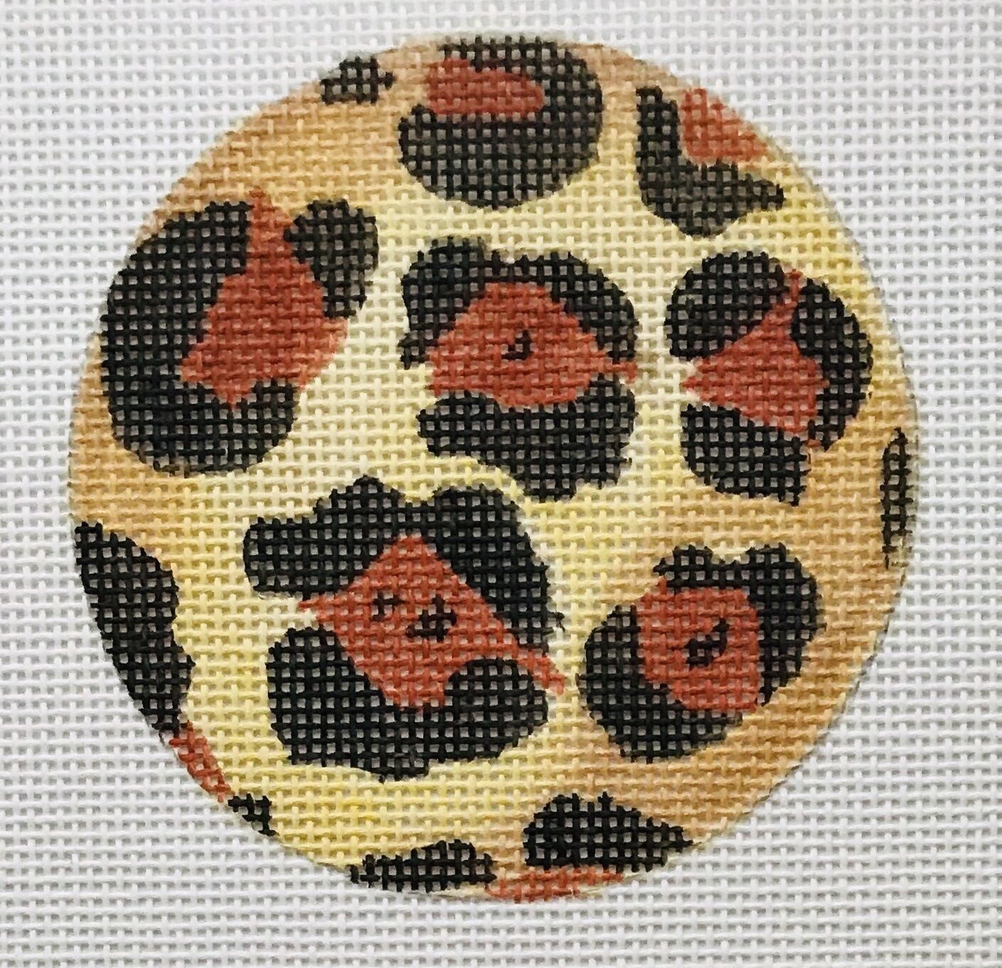 """Leopard Round ALLC-6   3"""" round on 18 mesh"""