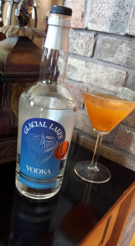 2 Oz Glacial Lakes Vodka  3 Oz Fresh Cantaloupe Juice Splash cranberry juice cocktail optional  1 ball of cantaloupe  Shake on ice and strain into martini glass Enjoy!