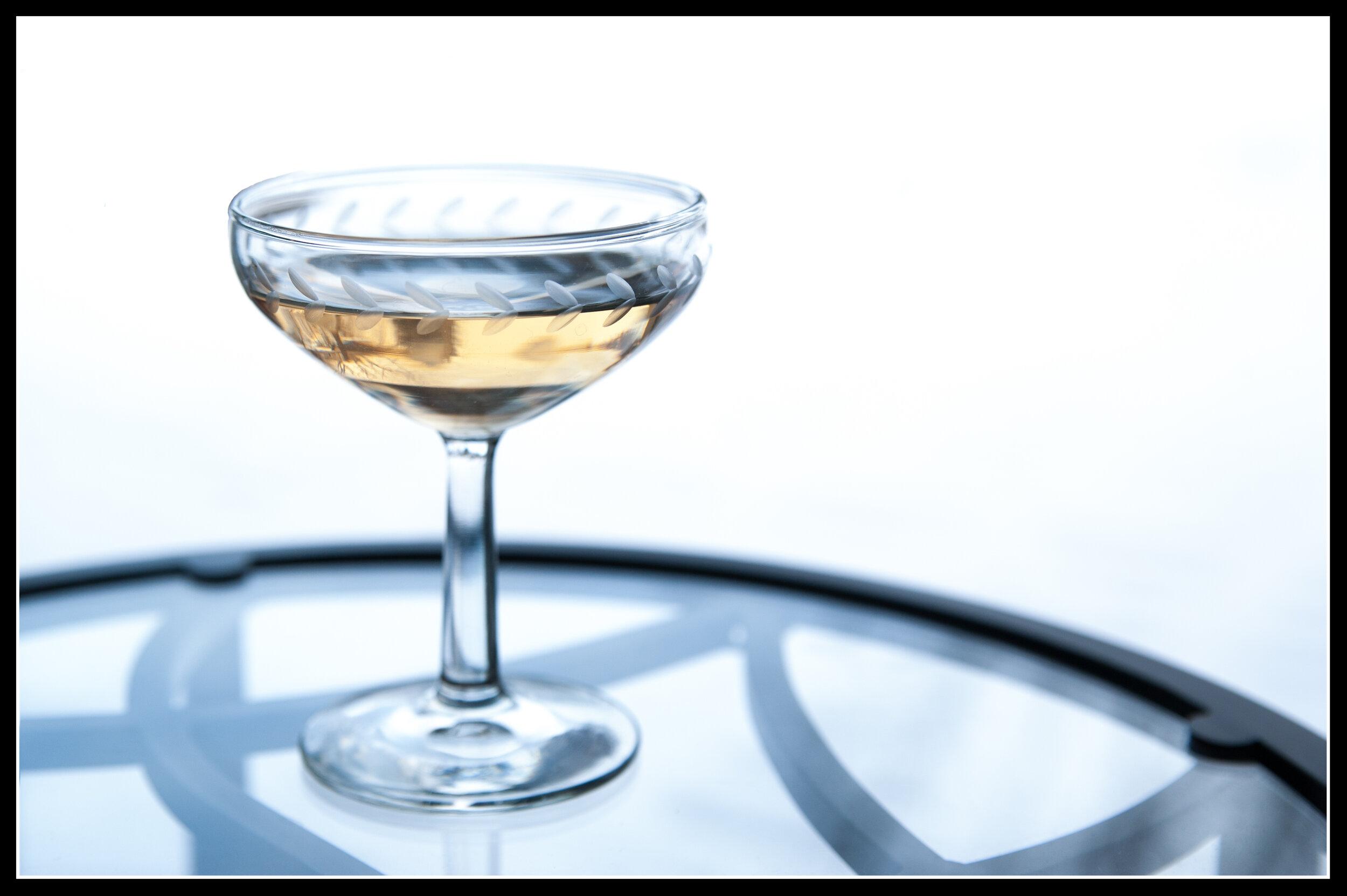 El Presidente - 1.5 oz Whitecap Rum1.5 oz Lillet Blanc1 tsp of Cointreau.5 tsp of GrenadineServe in chilled coupe glass