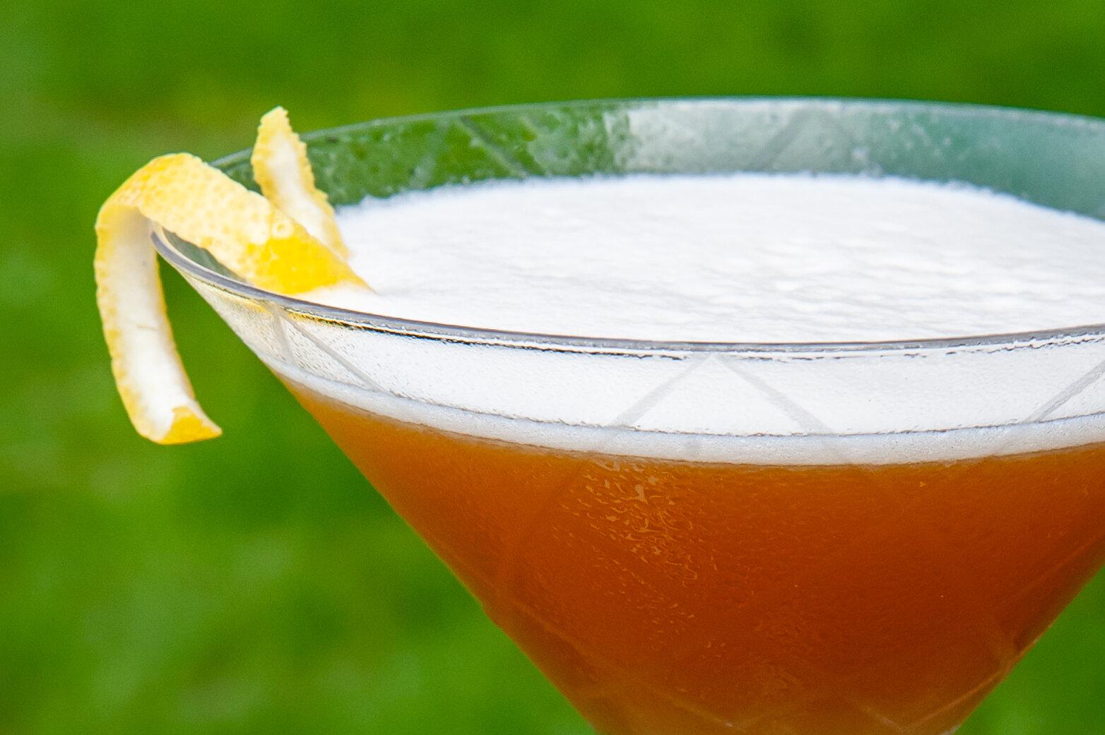 French martini - 2 oz Glacial Lakes Vodka 2.5 oz Pineapple Juice.25 oz ChambordShaken and poured into chilled martini glassGarnish with lemon twist