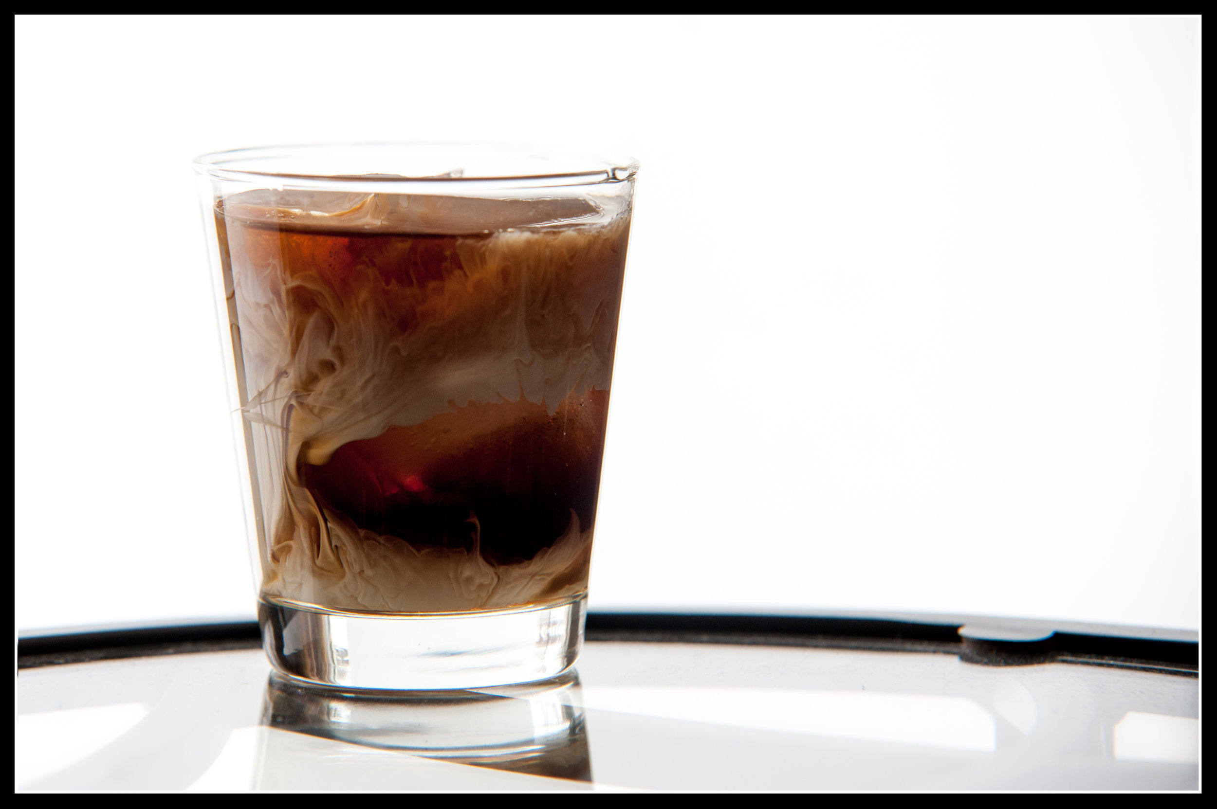 white russian - 2 oz Glacial Lakes Vodka1 oz KahluaPour on ice in old fashioned glassTop with heavy cream