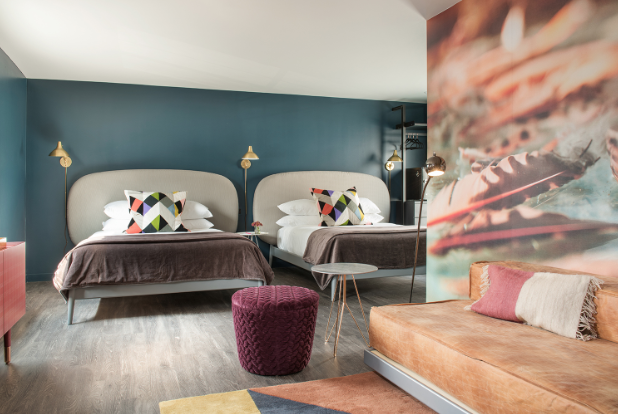Guest rooms provide the unexpected.