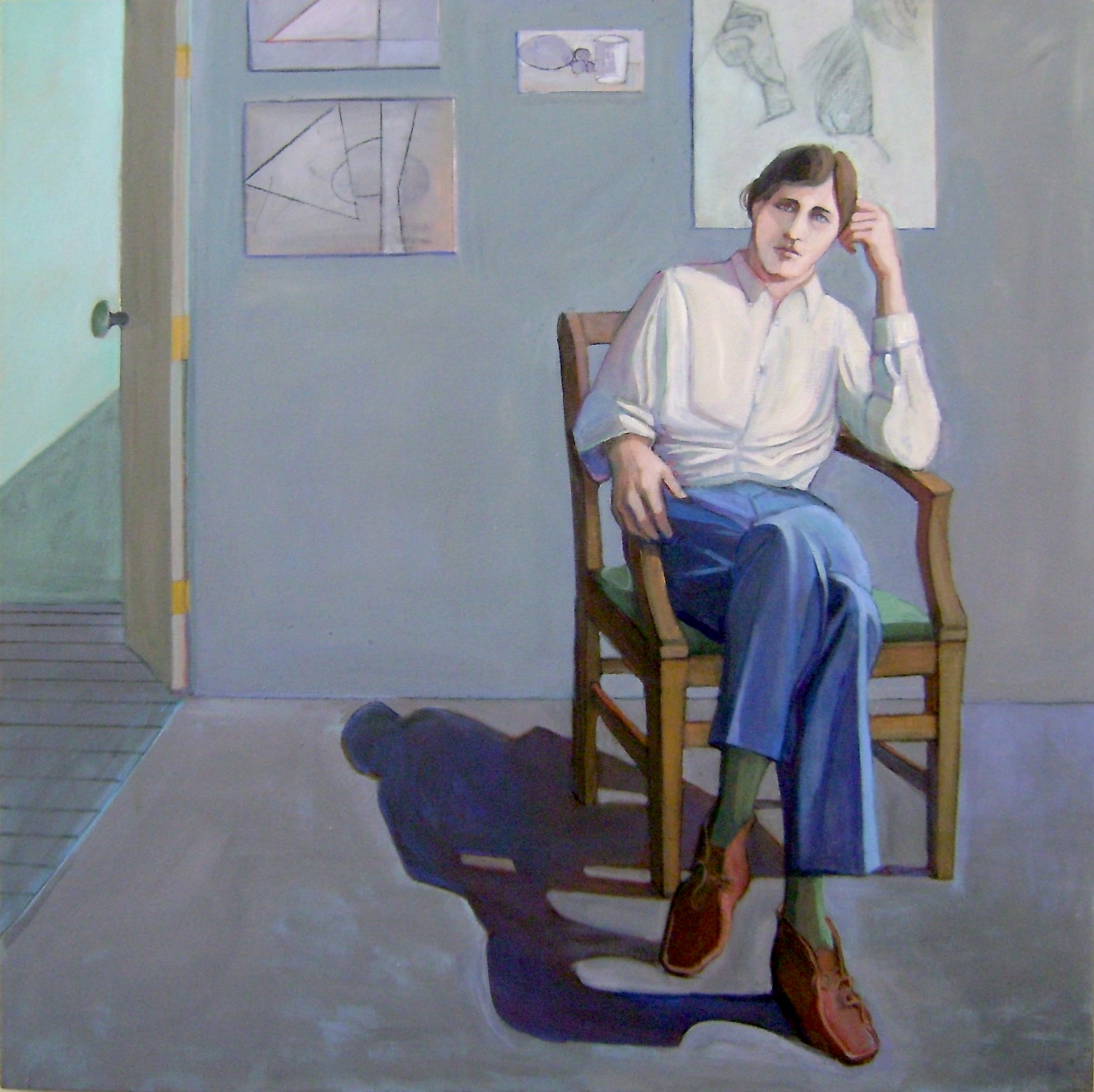 William Theophilus Brown     Portrait of Bill Imhoff,   1970 Oil on canvas 48 x 48 inches       For More Information     Artist Biography, Exhibitions & Collections