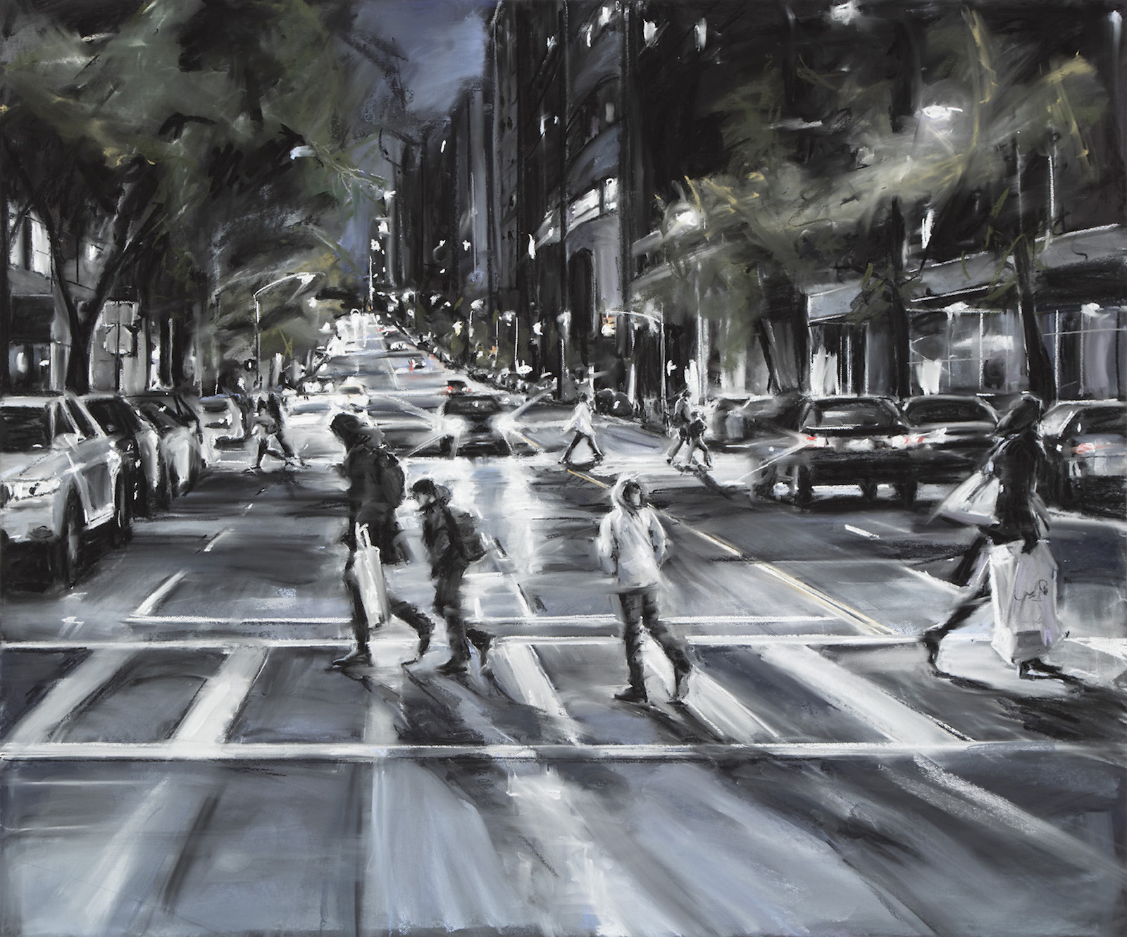 Susan Grossman      Come Back,   2015 Charcoal & pastel on artist board 50 x 60 inches