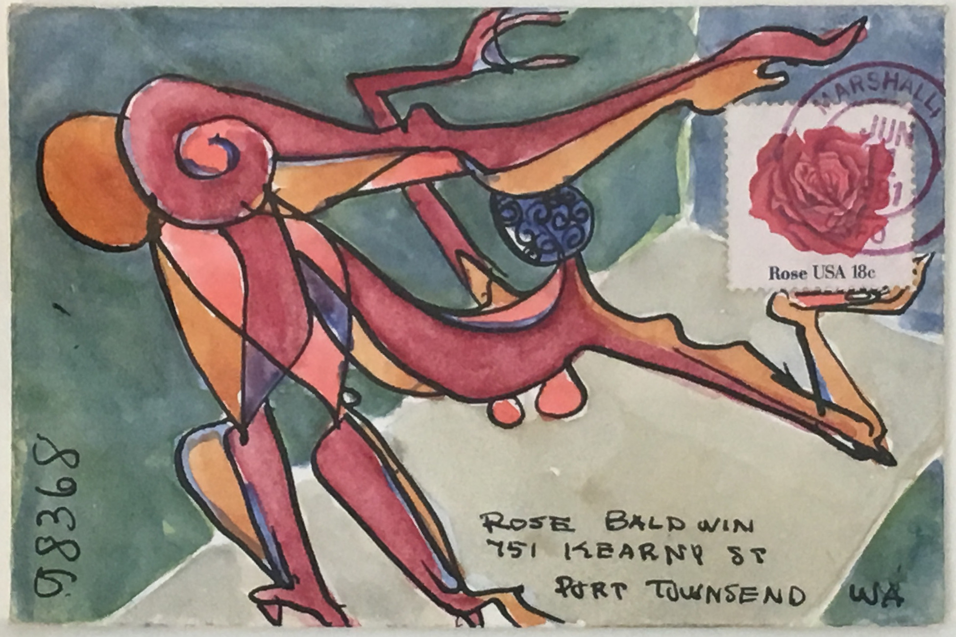 Clayton Lewis    Interlude,  1981 Mixed media on paper envelope 4.25 x 6.5 inches      For More Information
