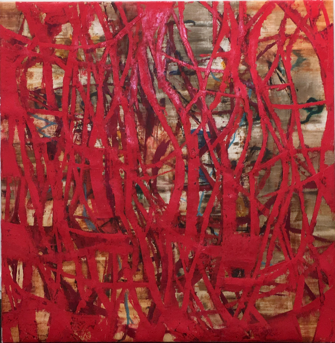 Ricardo Mazal    E Series, Red ,  1999  oil on linen 36 x 36 inches  $20,000 Offered at: $8,500      I'm Interested!