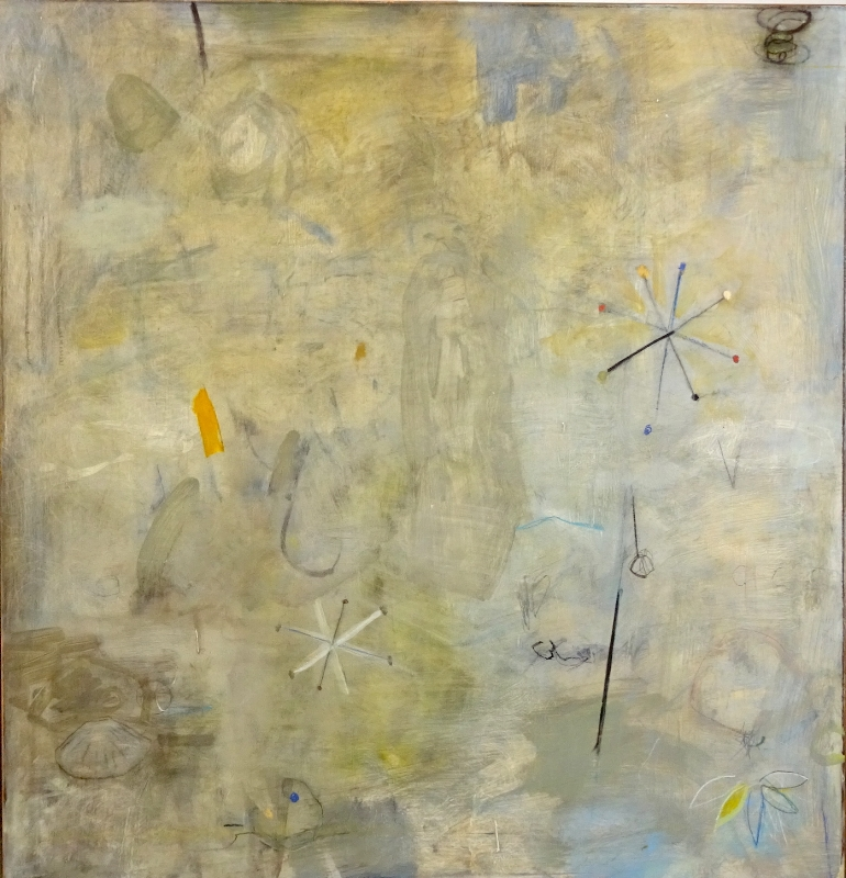 Charles Thomas O'Neil    Moving Dialogue ,  2002  oil on copper  34 x 34 inches  SOLD