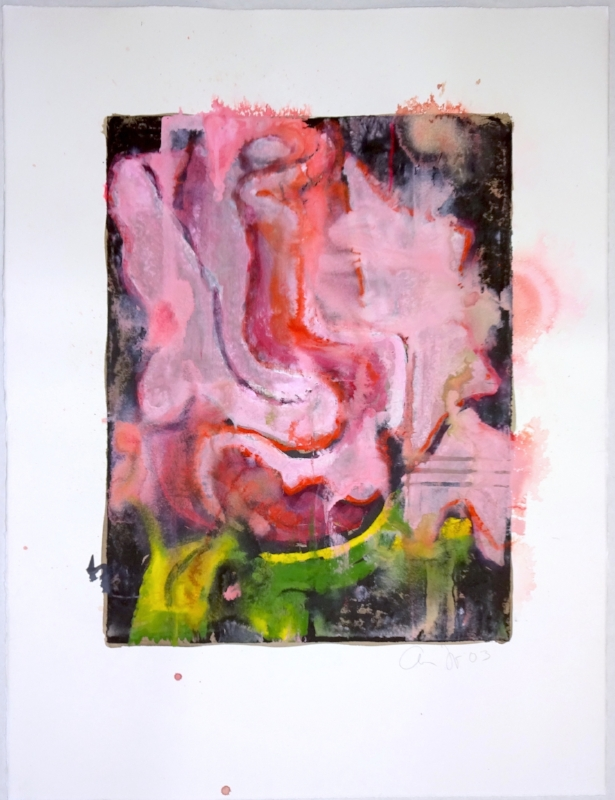 Aaron Fink    Pink Rose ,  2003  oil on paper 20 x 15 inches image size 30 x 22 inches sheet size  $3,500 Offered at: $1,800      I'm Interested!