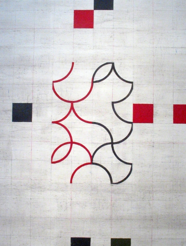 Francisco Castro Lenero    Notebook of Color - Black and Red Central ,  2011  oil on canvas 74 x 59 inches  $18,000 Offered at: $12,600      I'm Interested!
