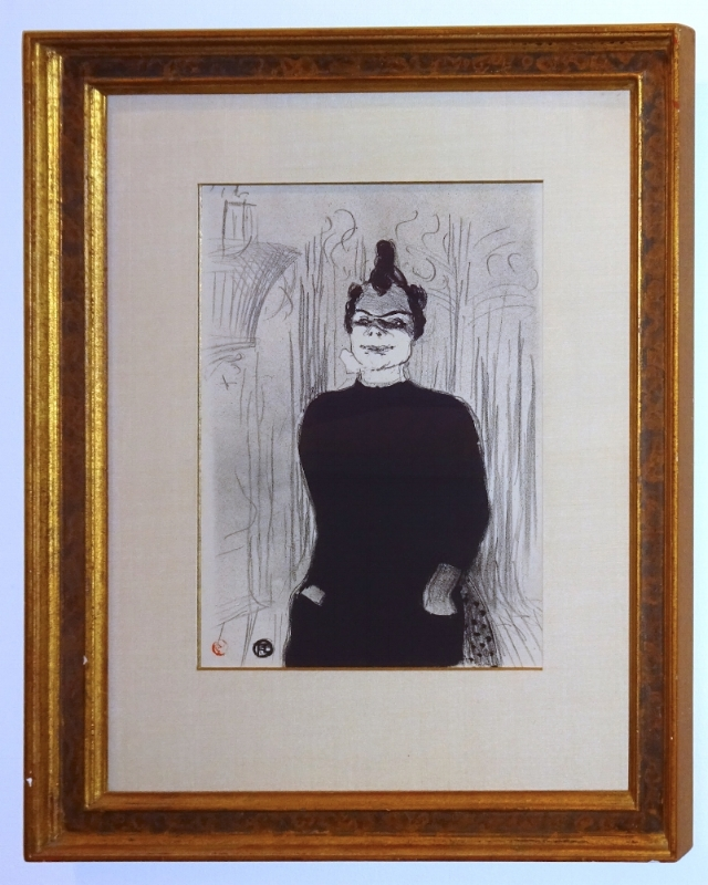 Henri de Toulouse-Lautrec (1864-1901)    A La Gaiete Rochechouart, Nicolle ,  1893  Lithograph on paper  15 x 11 inches image size 25 x 20 inches framed size  $7,000 Offered at: $5,500      I'm Interested!