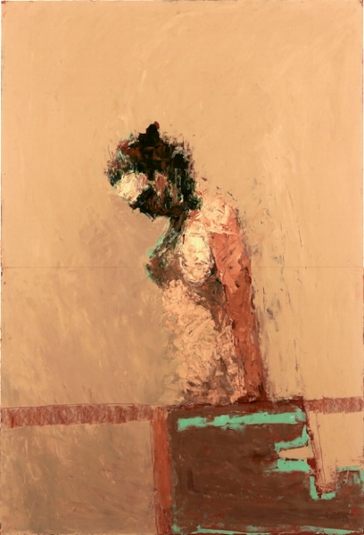John Goodman     Bowing Figure #8,   2013 Oil on panel 44 x 30 inches  $9,500 Offered at: $5,700      I'm Interested!