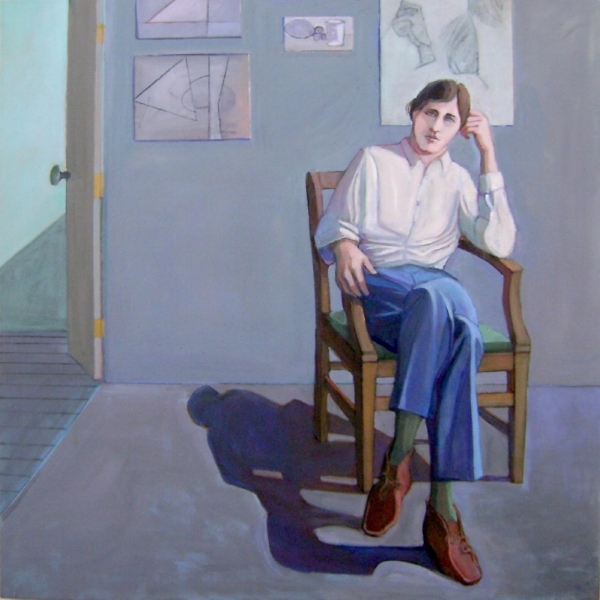 William Theophilus Brown (1919-2012)    Portrait of Bill Imhoff ,  1970  acrylic on canvas 48 x 48 inches  $45,000 Offered at: $27,000      I'm Interested!