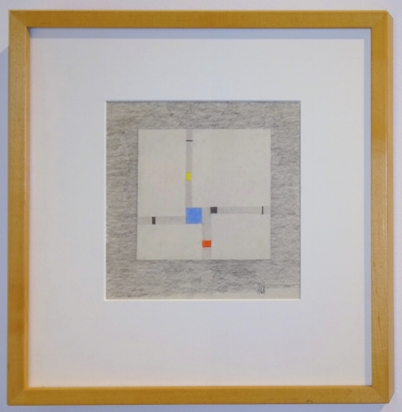 Burgoyne Diller (1906-1965)     Second Theme,   1961 Color pencil on paper 7 3/4 x 7 3/4 inches image size 18 x 16 inches framed size  $12,000 Offered at: $9,000      I'm Interested!