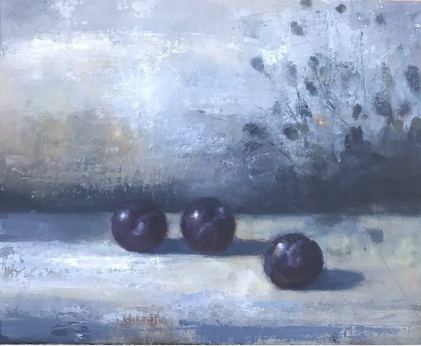 John McCormick     Plums,   2019 Oil on panel 11 x 14 inches  $2,000 Offered at: $1,500      I'm Interested!