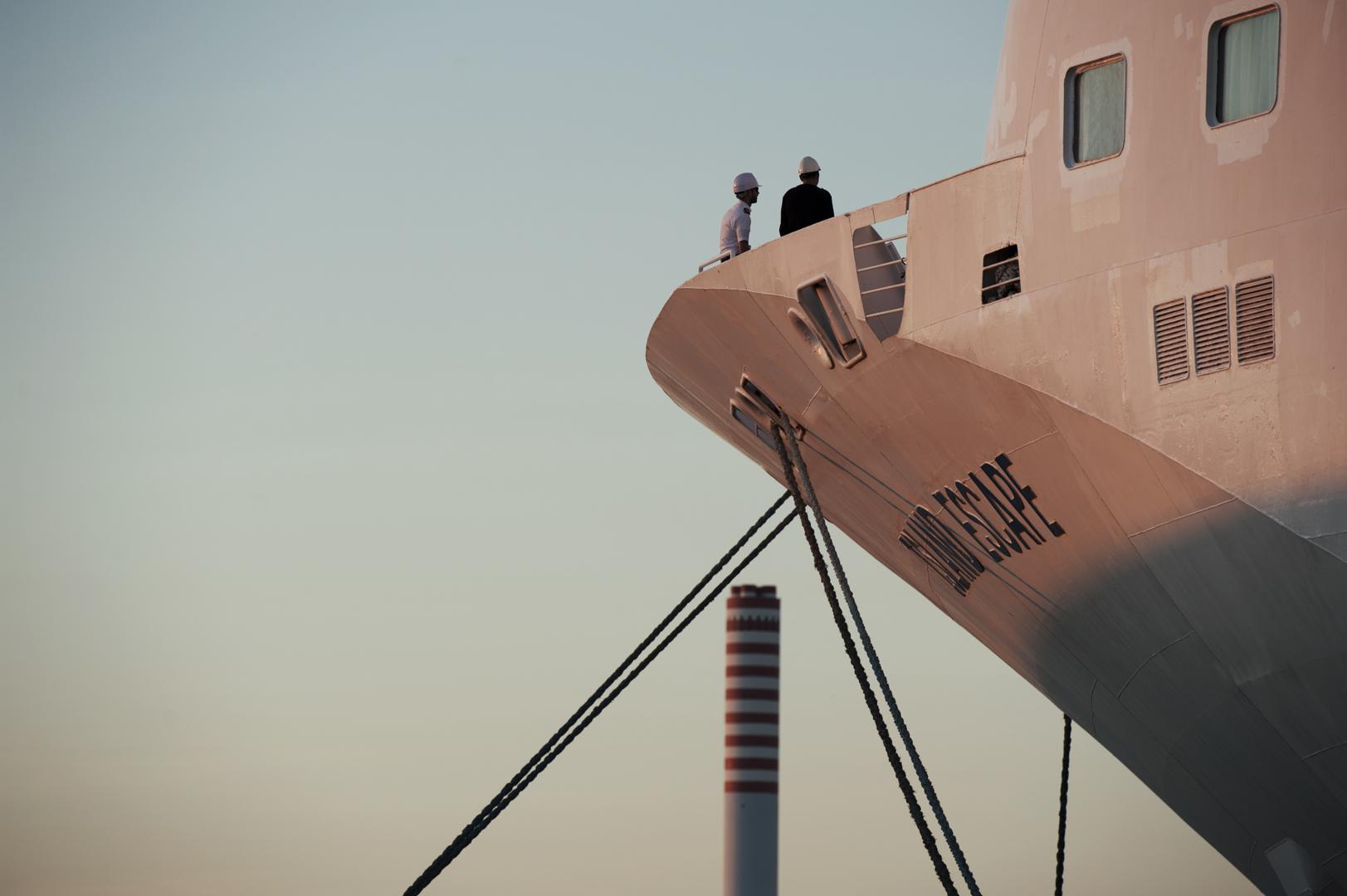 La nave da crociera Island Escape in sosta nel porto di Civitavecchia, Settembre 2014. Ospita fino a 1750 passeggeri e circa 600 membri di equipaggio e personale di bordo. (Patrizia Pace)