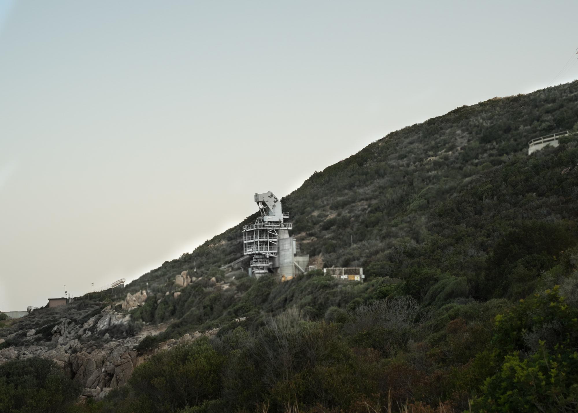 Rampa di lancio area H, comune di Arzana, Murtas, poligono a mare.