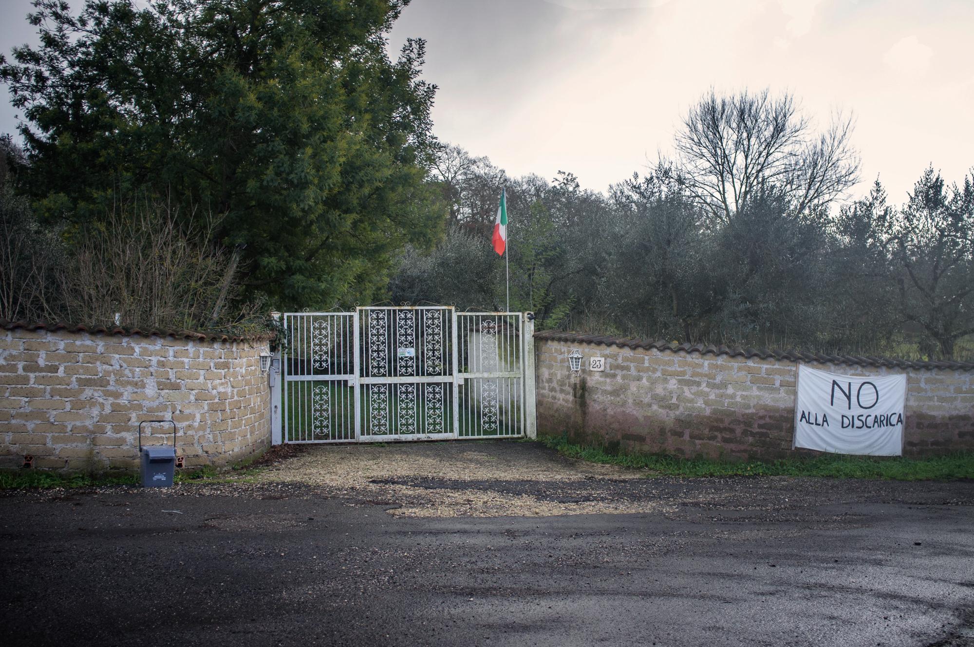 Abitazione privata a meno di 700 metri dal sito di Riano.